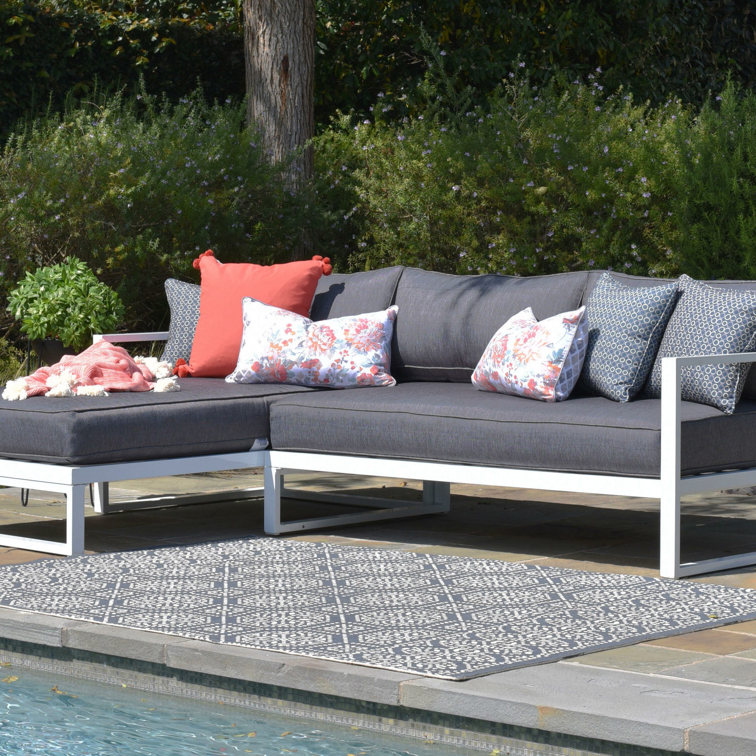 Ostrowski Patio Sectionals With Cushions With Preferred Paloma Sectional With Cushions (View 13 of 25)