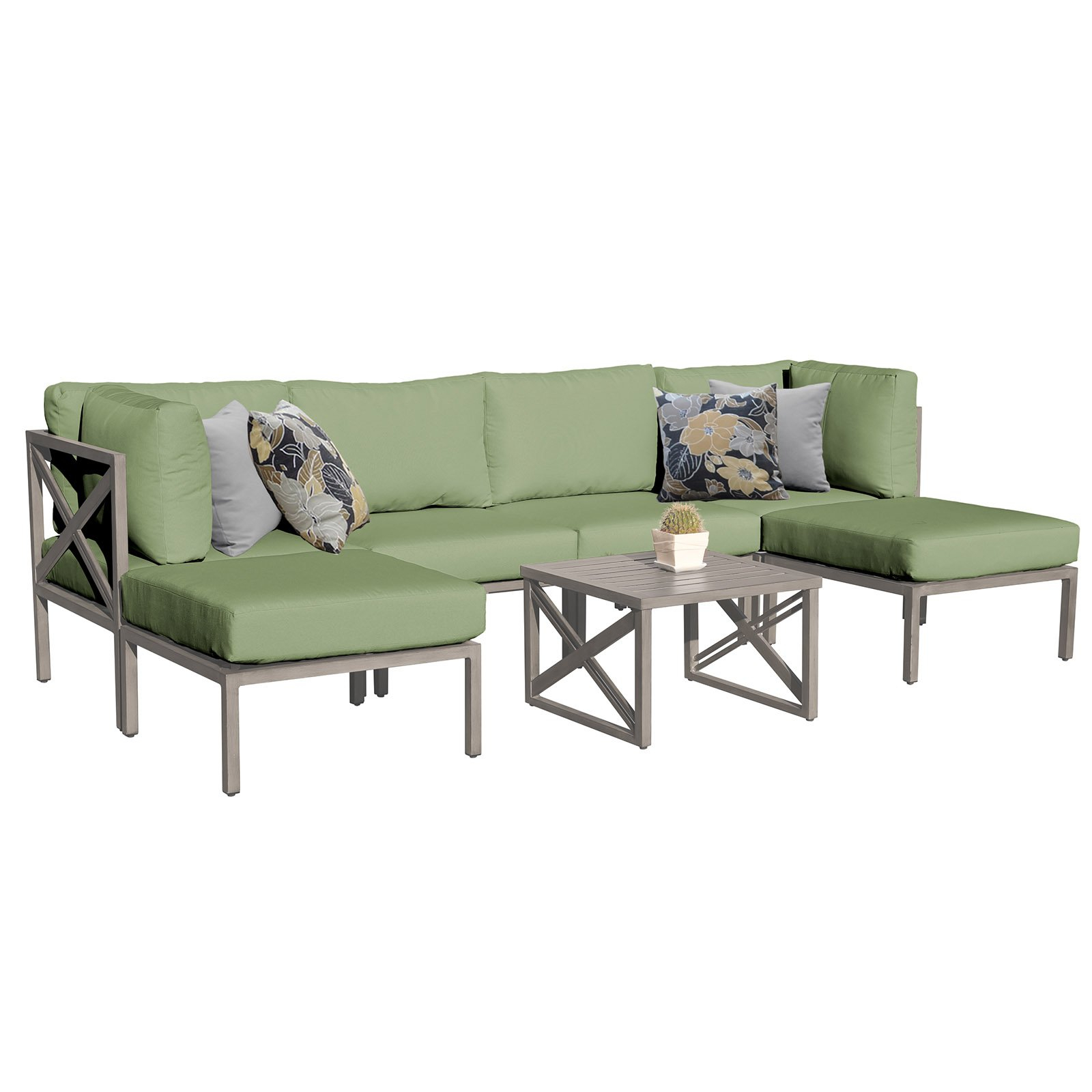 Outdoor Tk Classics Carlisle Aluminum 7 Piece Patio Sofa And Pertaining To Widely Used Carlisle Patio Sofas With Cushions (View 20 of 25)
