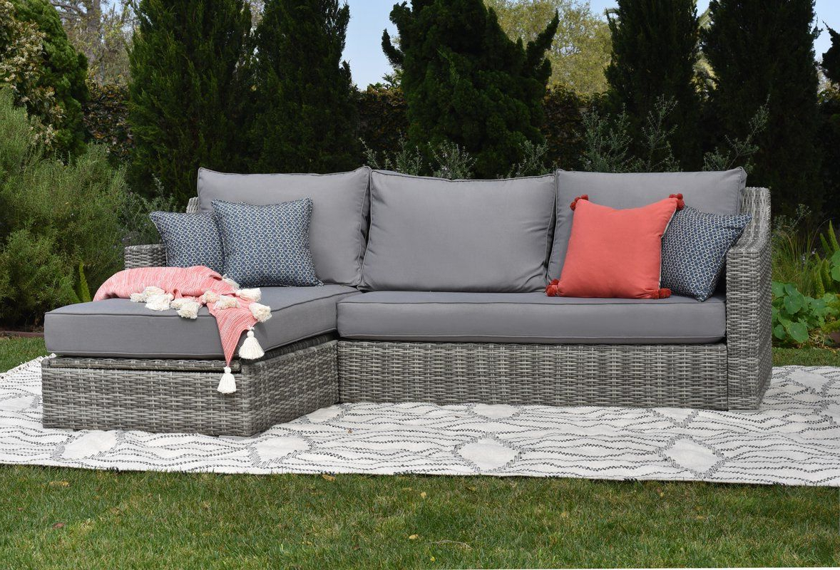 Outdoor With Regard To Well Known Vallauris Storage Patio Sectionals With Cushions (Gallery 1 of 25)