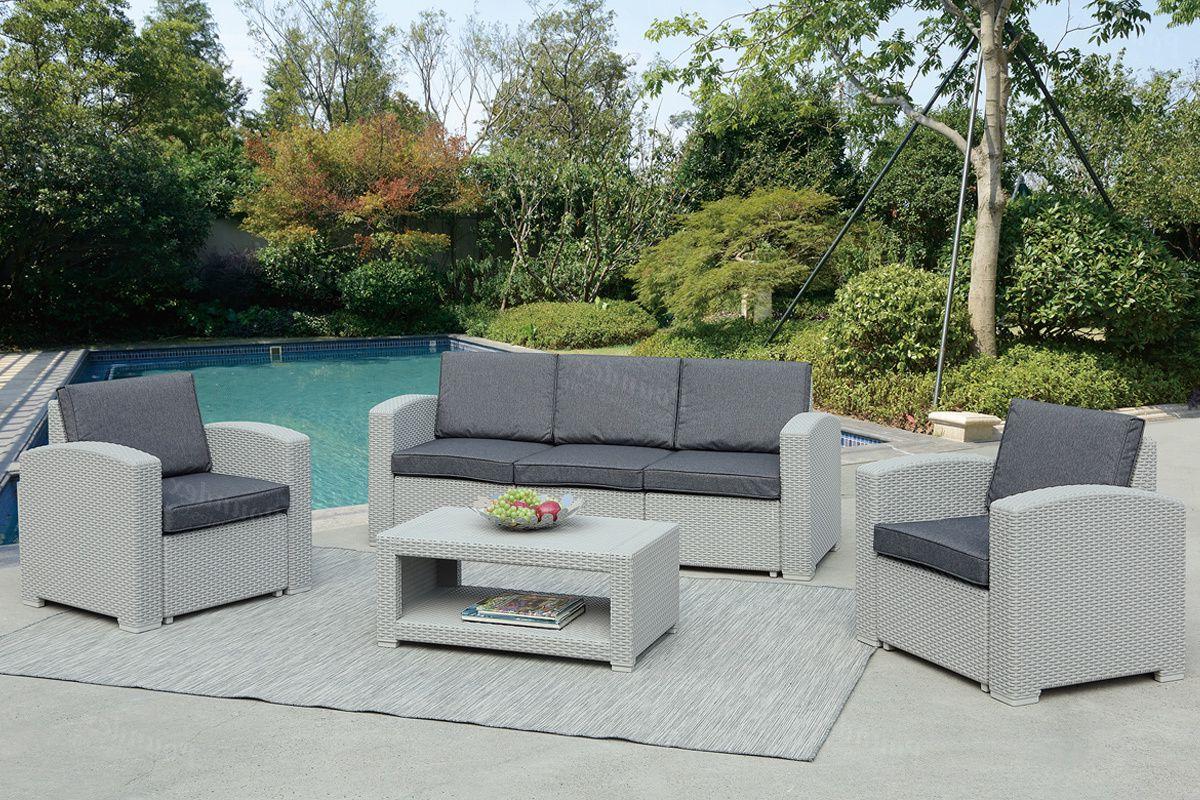 Patio Ideas Regarding 4 Piece Sierra Sunbrella Seating Group (View 8 of 25)