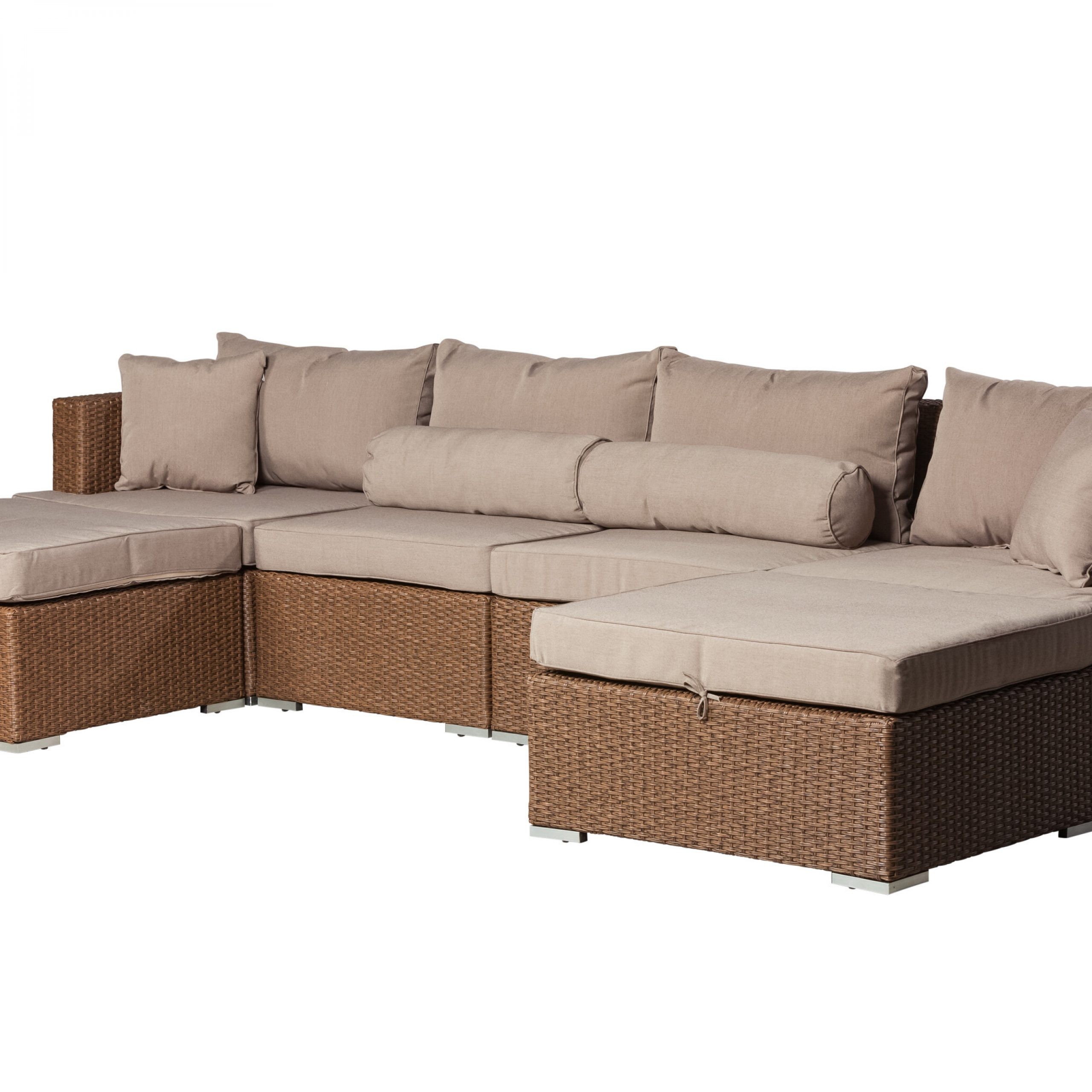 Patiosense Teagarden Patio Sectional With Cushions & Reviews In 2019 Ostrowski Patio Sectionals With Cushions (View 4 of 25)