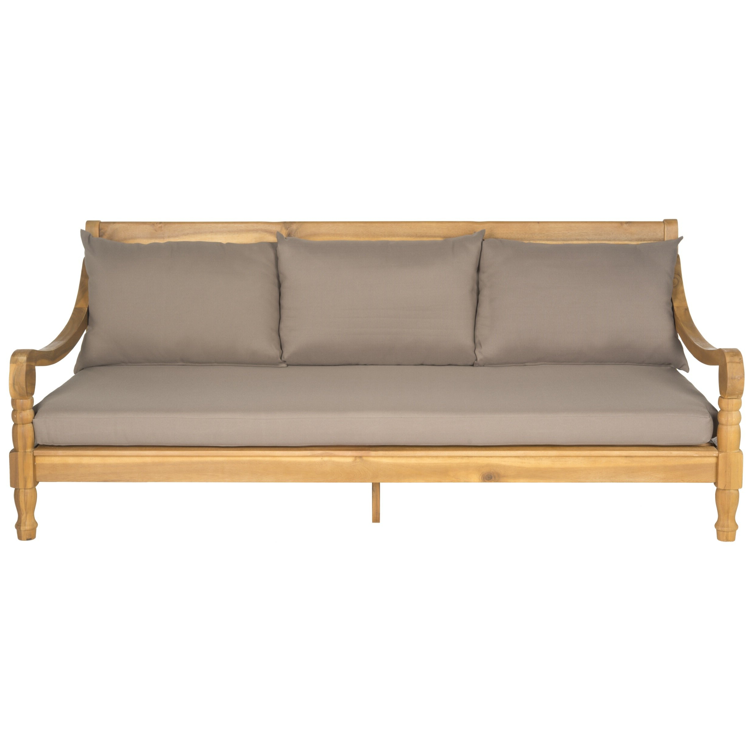 Popular Bodine Patio Daybeds With Cushions In Roush Teak Patio Daybed With Cushions (View 21 of 25)