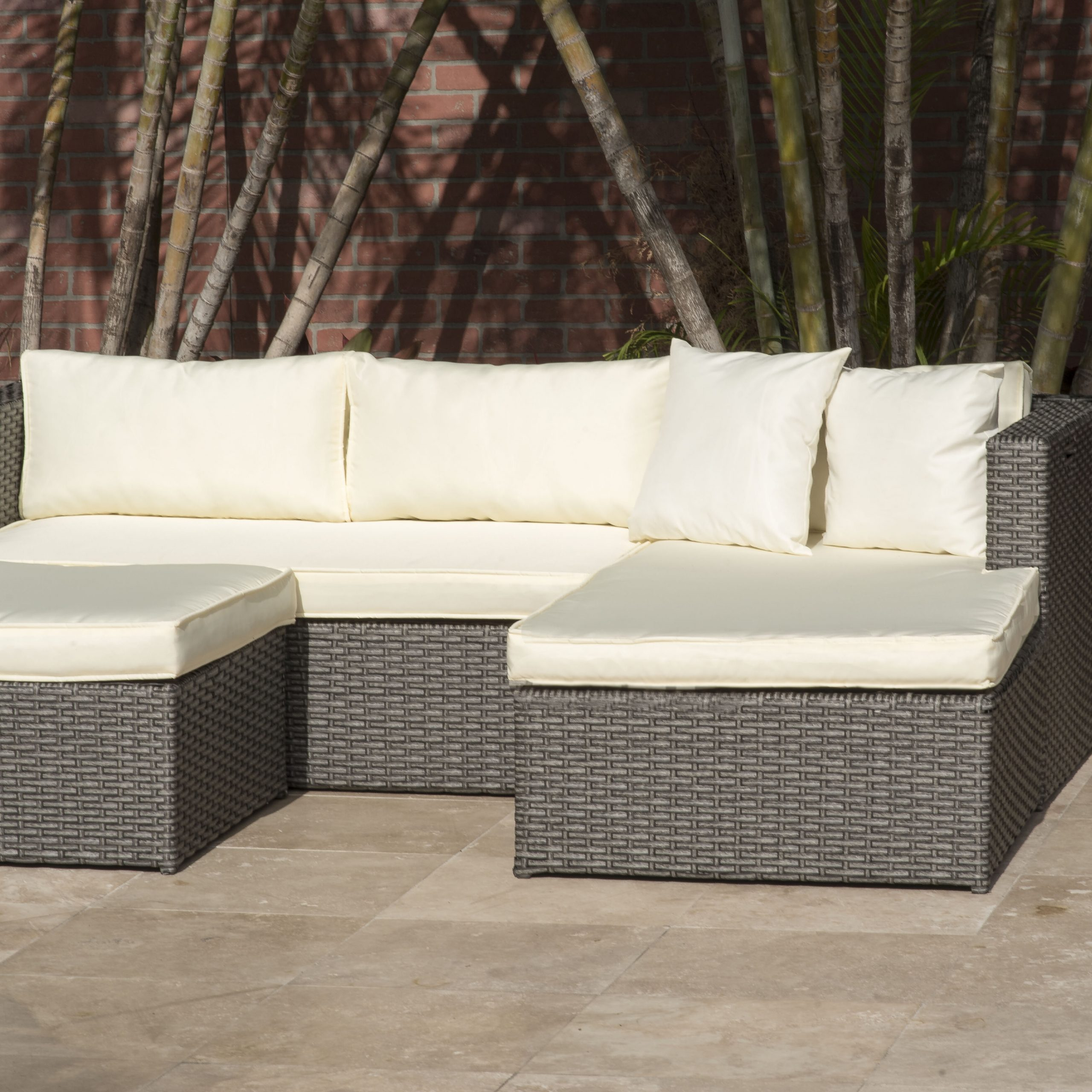 Popular Breakwater Bay Voyles 3 Piece Sectional Seating Group With For 4 Piece Sierra Sunbrella Seating Group (Gallery 11 of 25)