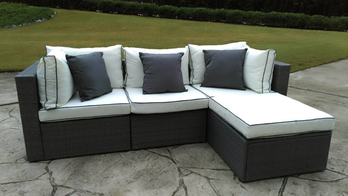 Popular Burruss Patio Sectional With Cushions (View 3 of 25)
