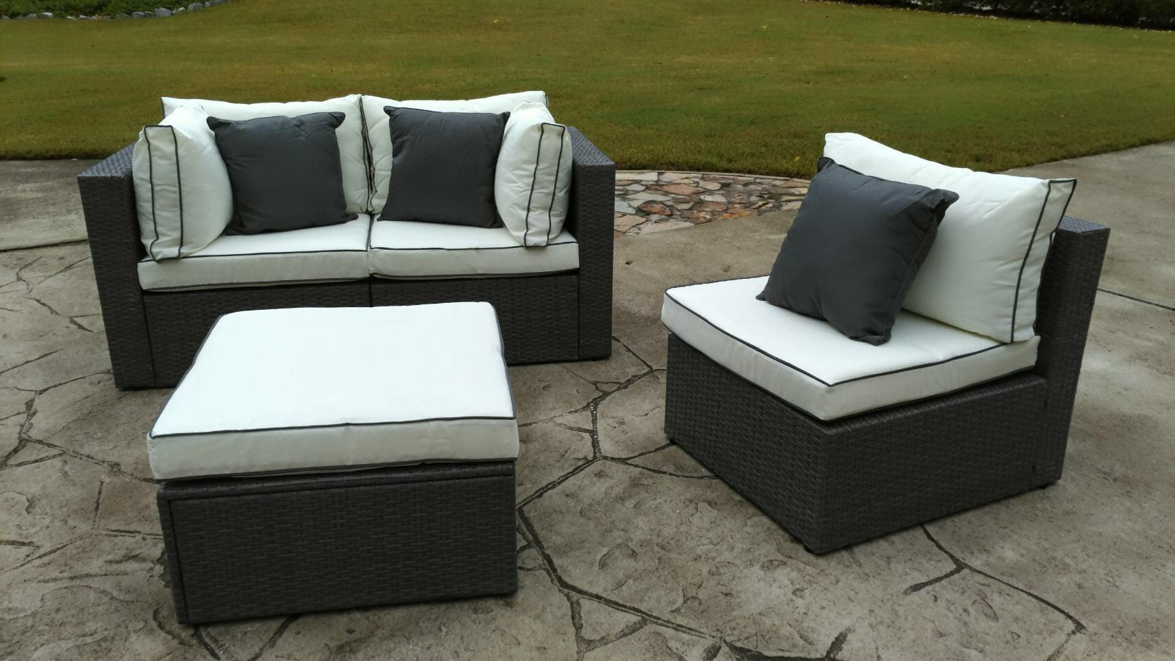 Popular Burruss Patio Sectionals With Cushions Throughout Three Posts Burruss 4 Piece Patio Sectional With Cushions (View 8 of 25)