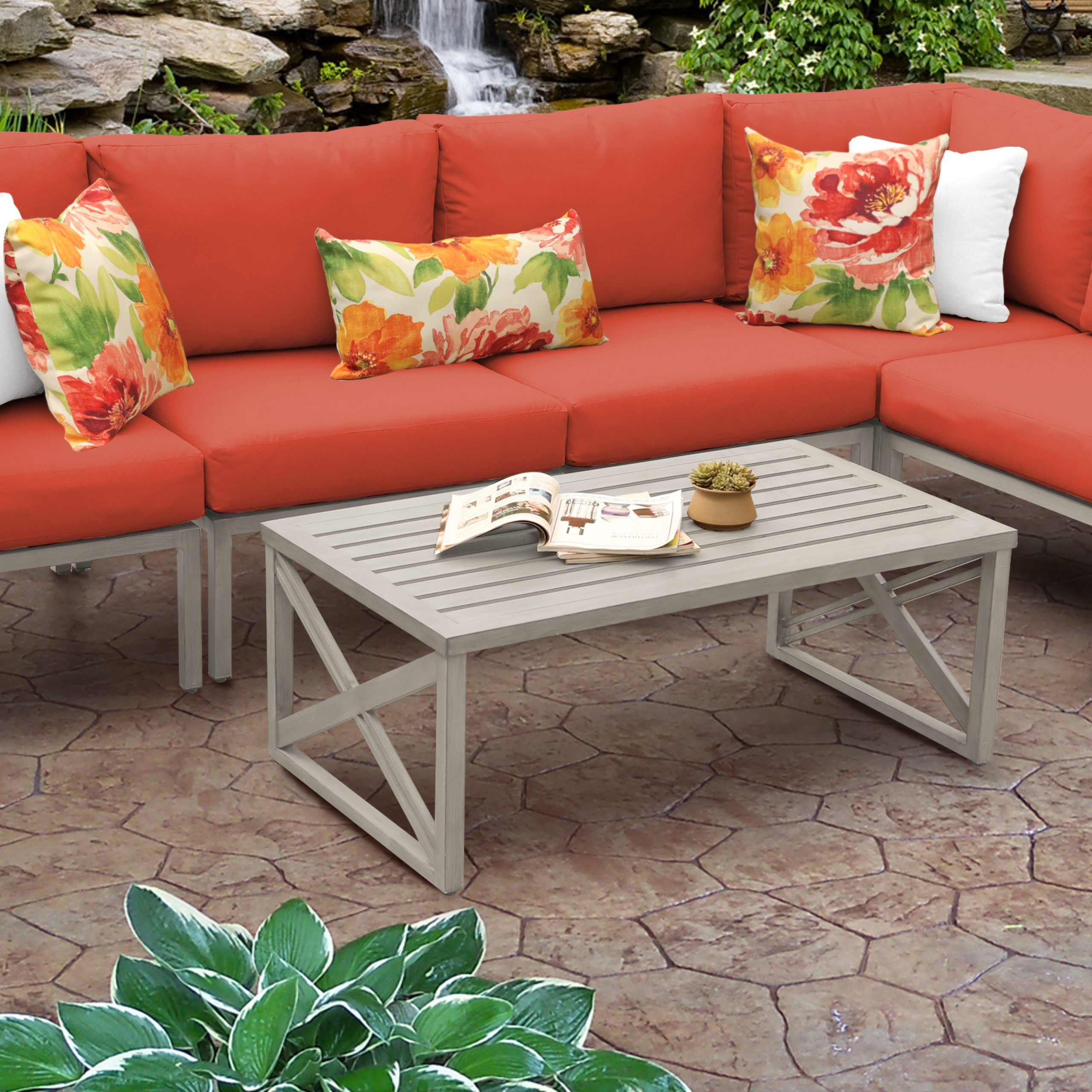 Popular Carlisle Patio Sofas With Cushions In Carlisle 6 Piece Outdoor Aluminum Patio Furniture Set 06A (View 21 of 25)