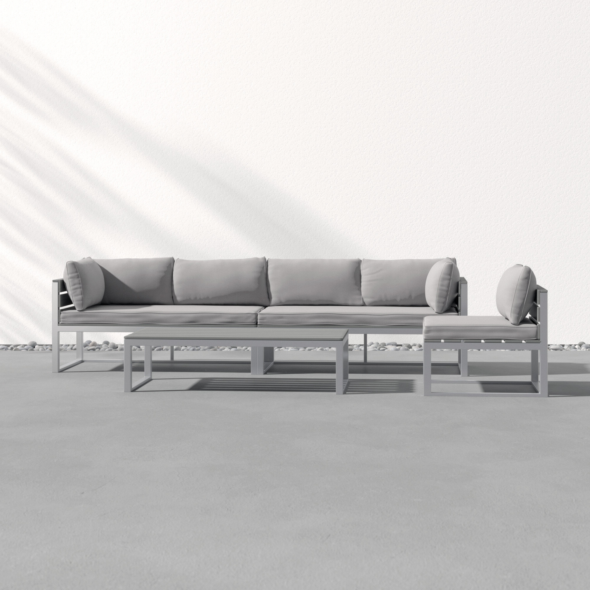 Popular Deandra Loveseats With Cushions In Castleford 4 Piece Sofa Seating Group With Cushions (View 17 of 25)