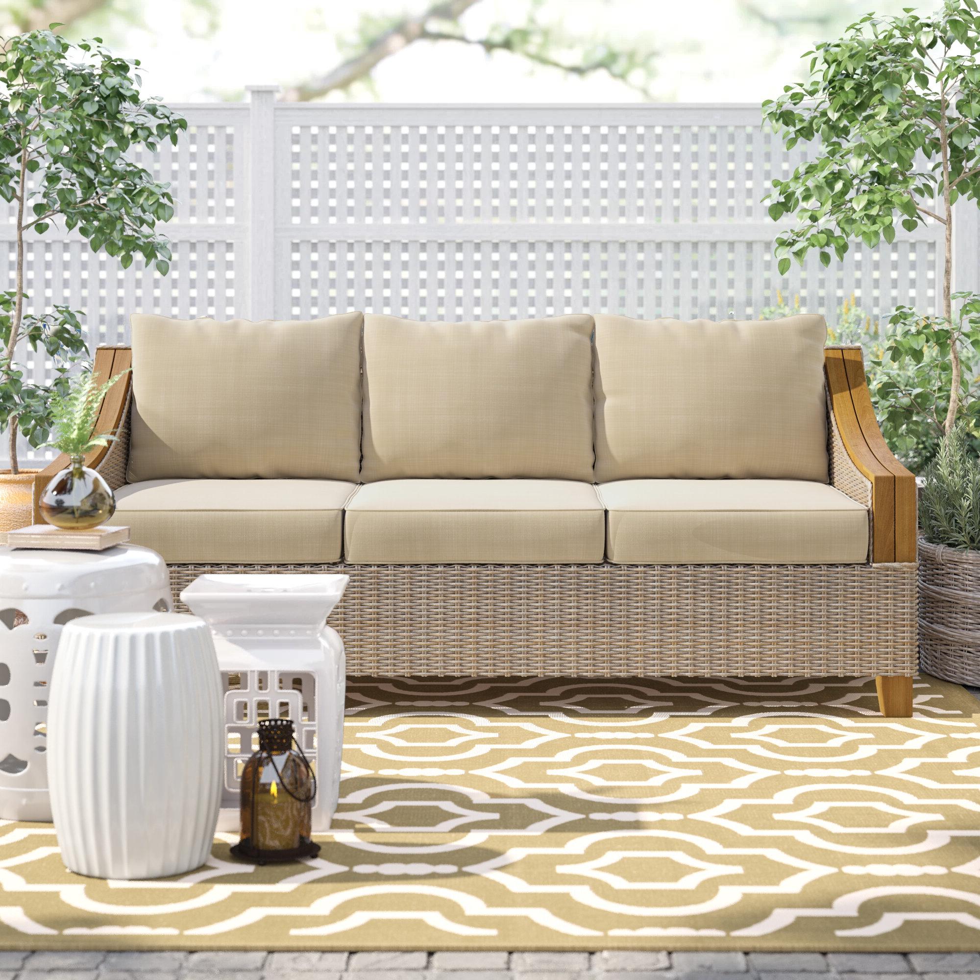 Popular Kincaid Teak Patio Sofa With Sunbrella Cushions In Kincaid Teak Patio Sofas With Sunbrella Cushions (View 3 of 25)