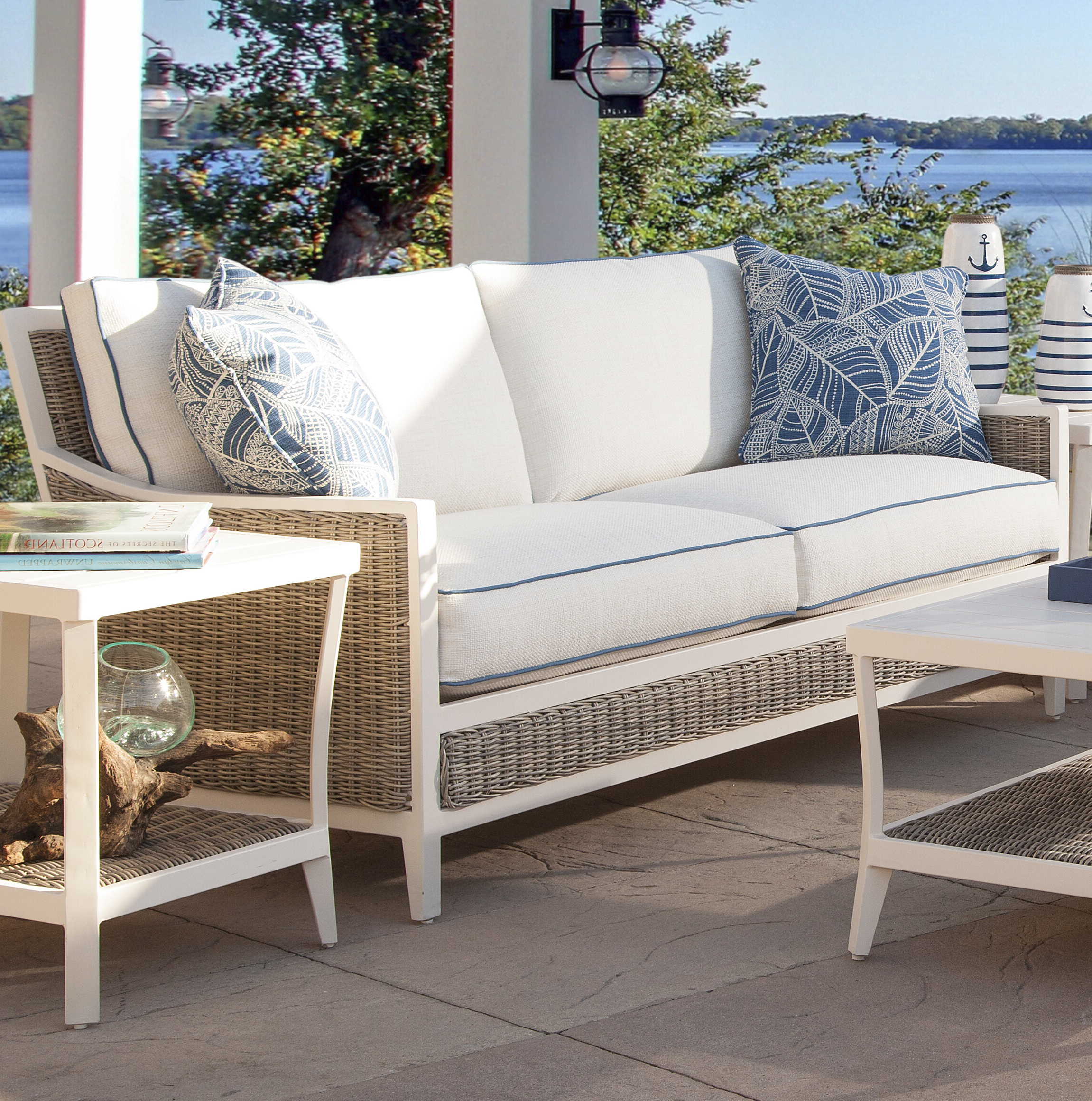 Popular Molly Patio Sofa With Cushions With Regard To Baca Patio Sofas With Cushions (View 20 of 25)