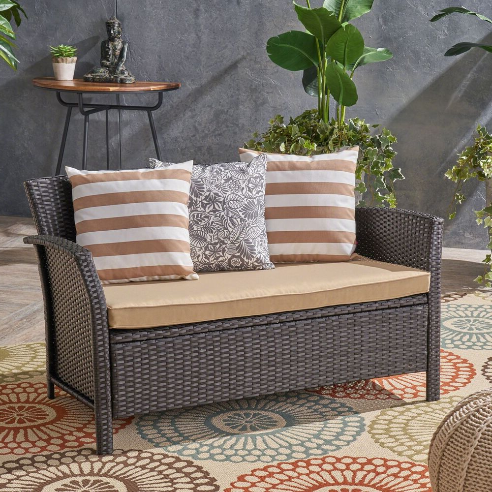 Popular Tori Outdoor Wicker Loveseat (View 6 of 25)