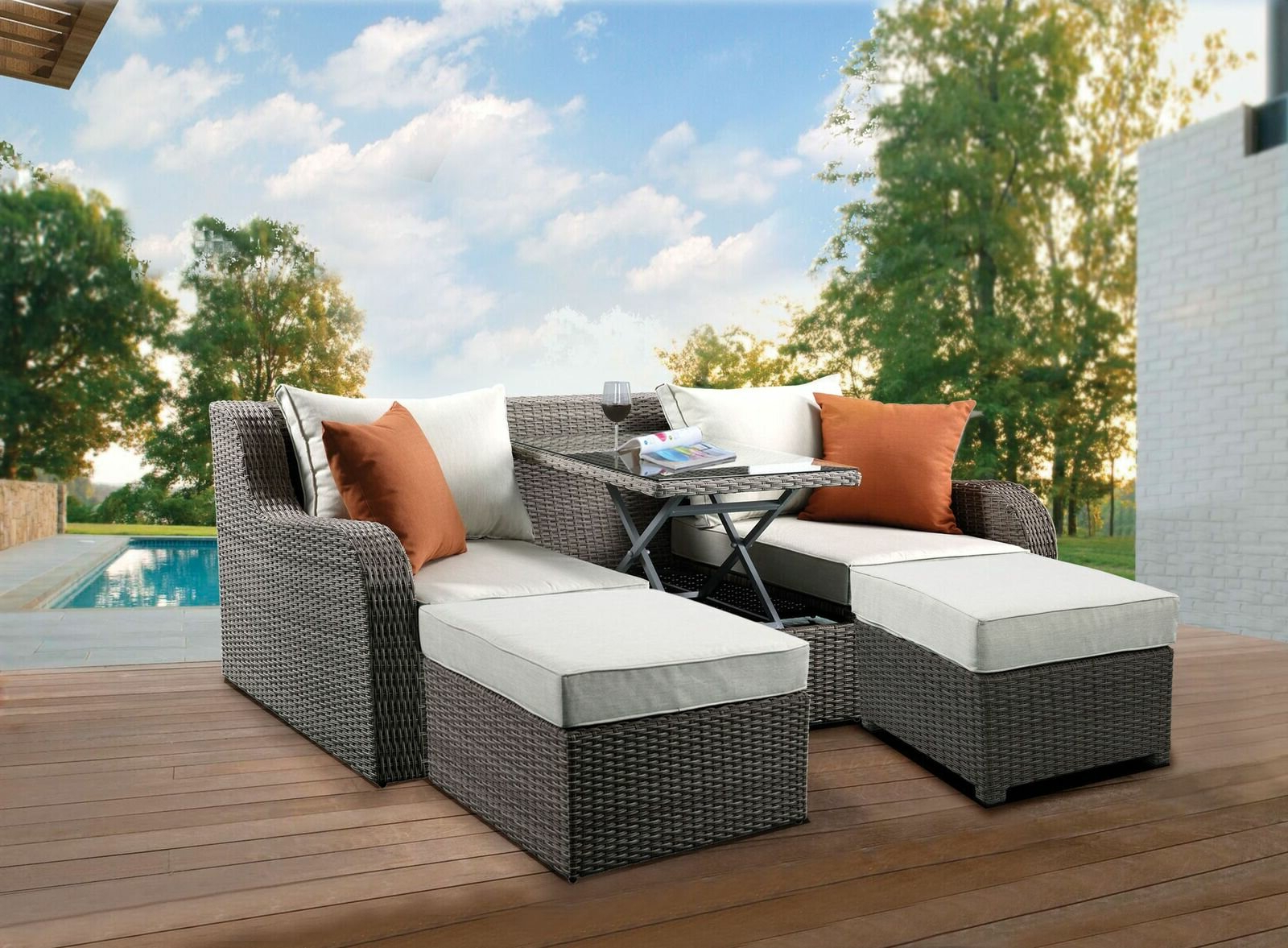 Preferred Baca Patio Sofas With Cushions Pertaining To Platt Patio Sofa With Cushions (Gallery 13 of 25)