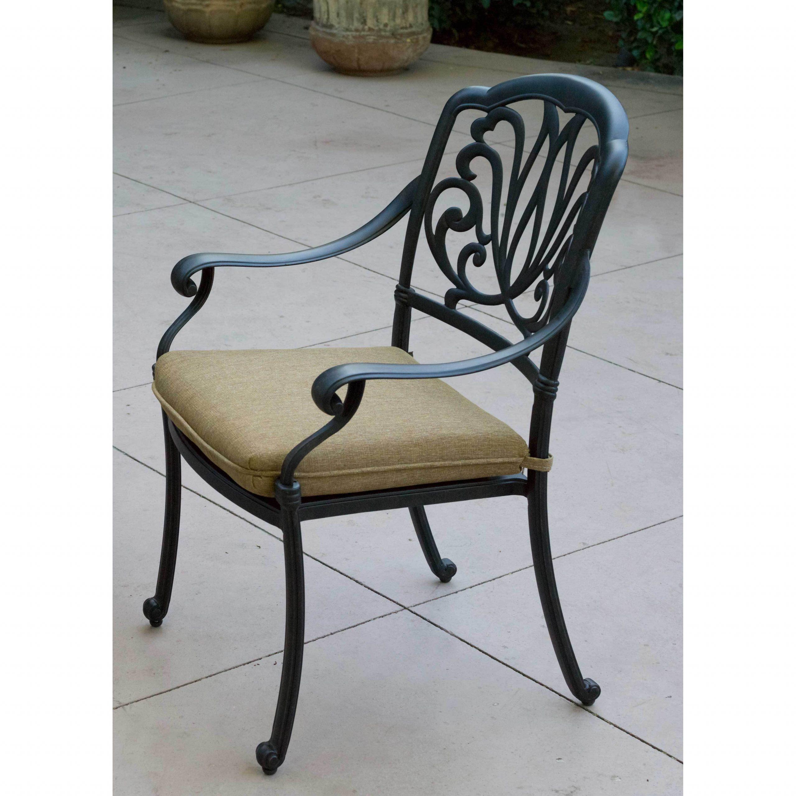 Preferred Elisabeth Outdoor Chairs (Set Of 4) – Antique Bronze Regarding 4 Piece Sierra Sunbrella Seating Group (View 23 of 25)