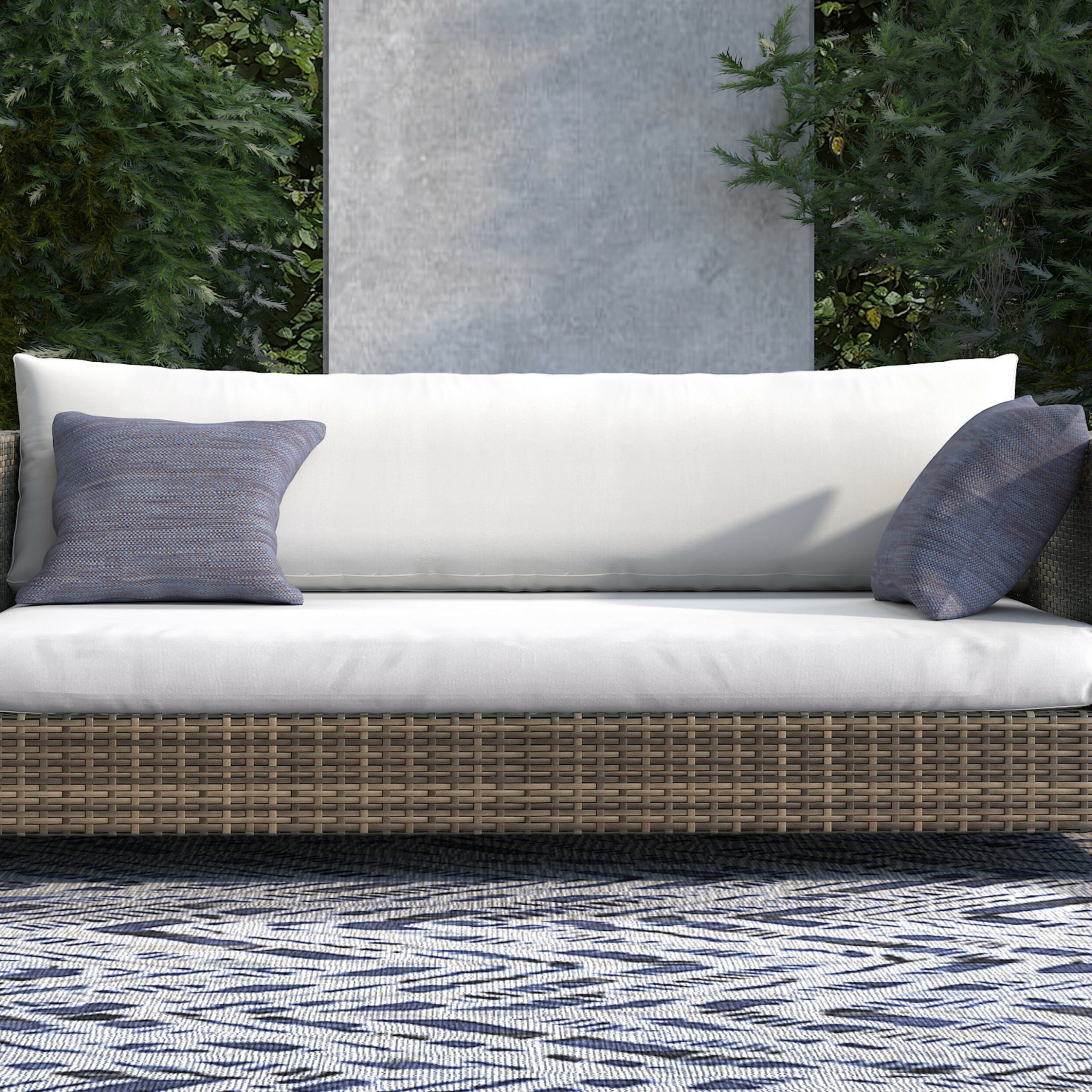 Featured Photo of Oceanside Outdoor Wicker Loveseats With Cushions