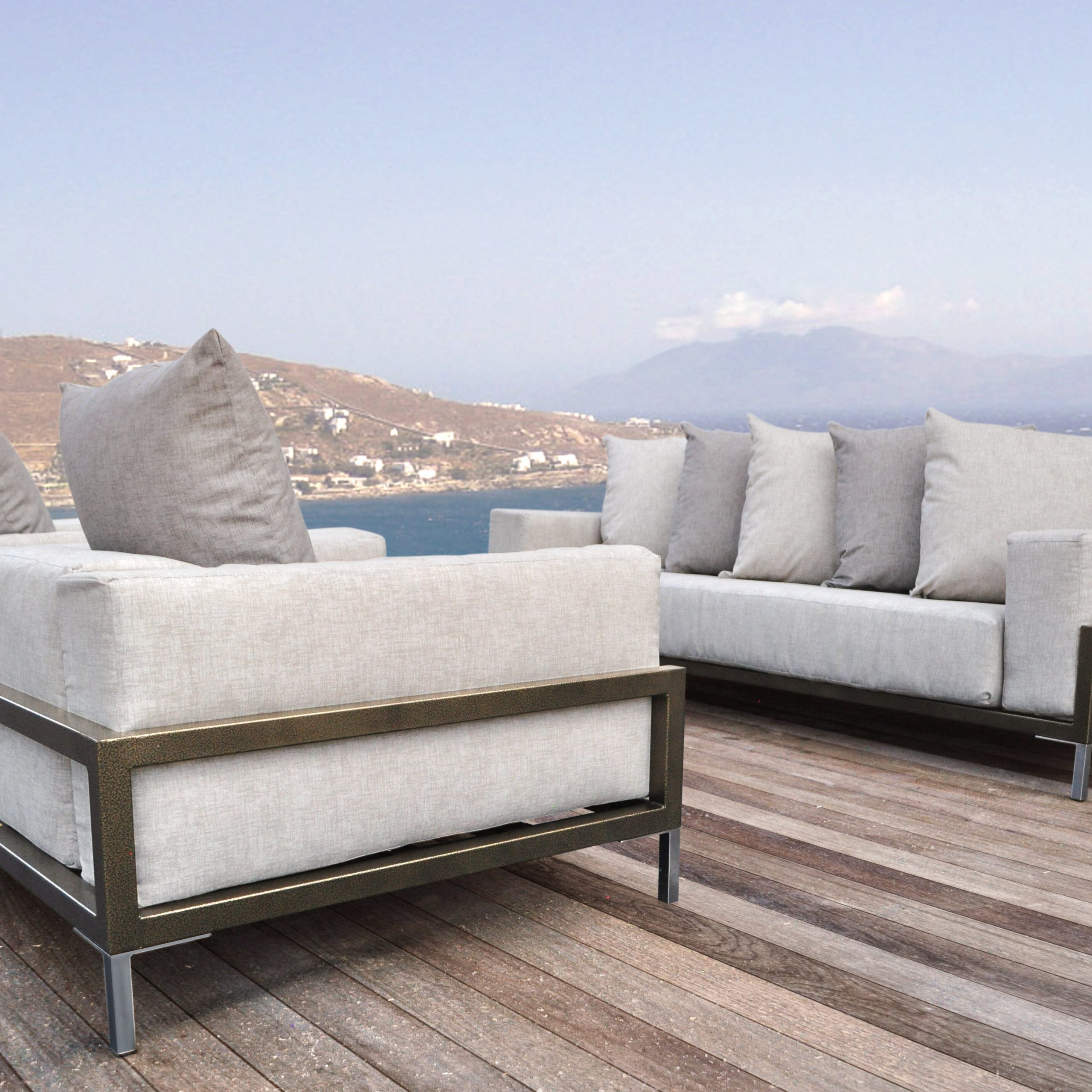 Preferred Salvato Sofas With Cushion Inside Tilly 3 Piece Sunbrella Sofa Set With Cushions (View 9 of 25)