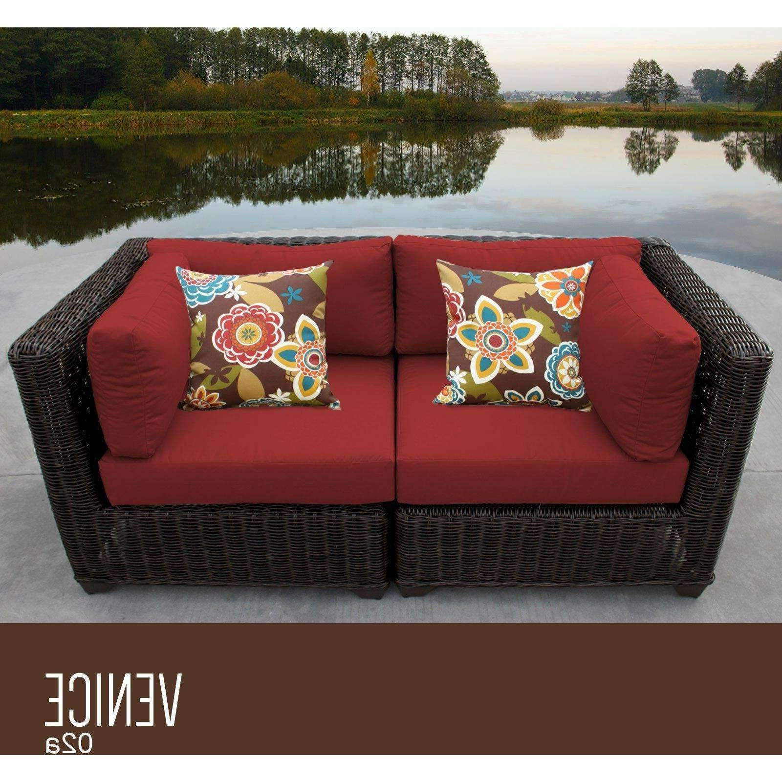 Preferred Venice 2 Piece Outdoor Wicker Patio Furniture Set 02a Inside Oceanside Outdoor Wicker Loveseats With Cushions (View 9 of 25)