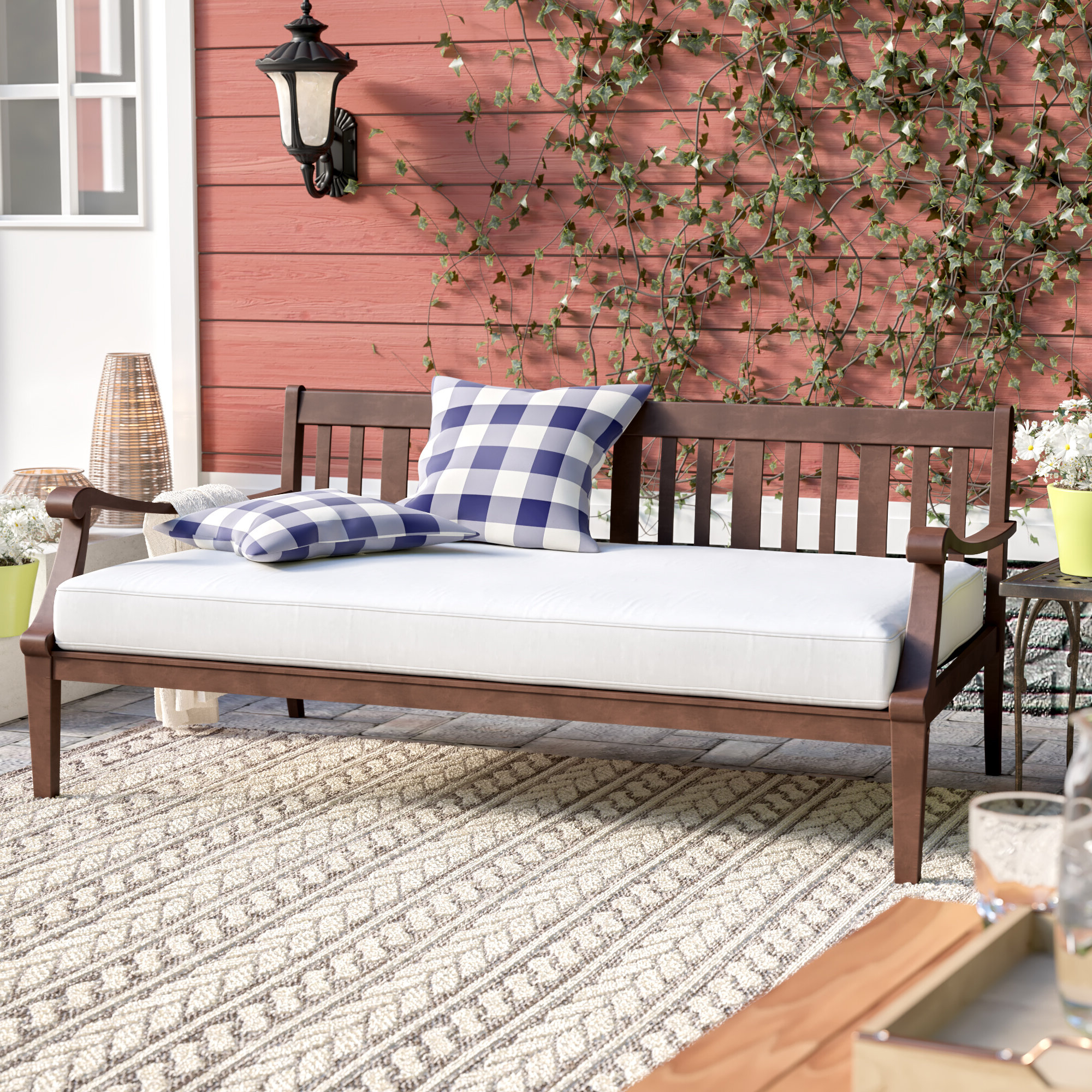 Recent Dowling Patio Daybed With Cushion Throughout Bodine Patio Daybeds With Cushions (View 24 of 25)