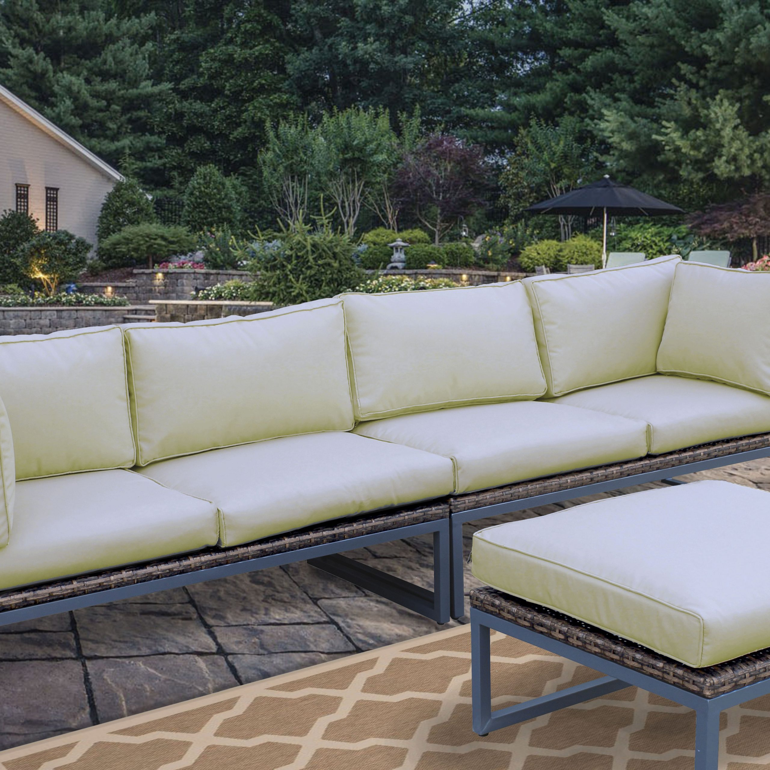 Recent Sora Multi Layout 3 Piece Patio Sofa Set Can Be Arranged In In Lobdell Patio Sofas With Cushions (Gallery 23 of 25)