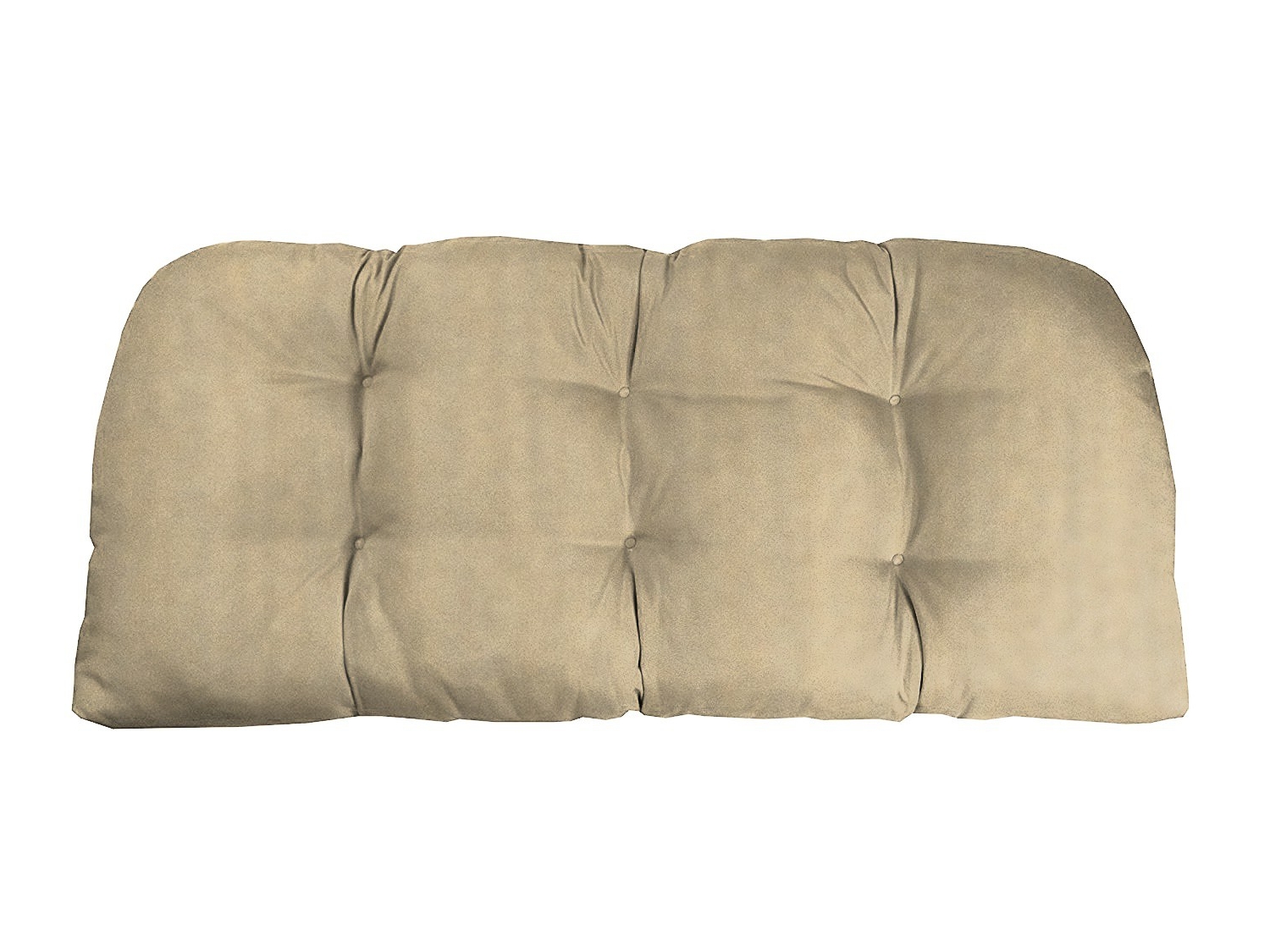 Recent Sunbrella Spectrum Sand Tufted Wicker Loveseat Cushions – 46X20X5 Intended For Loveseats With Sunbrella Cushions (Gallery 10 of 25)