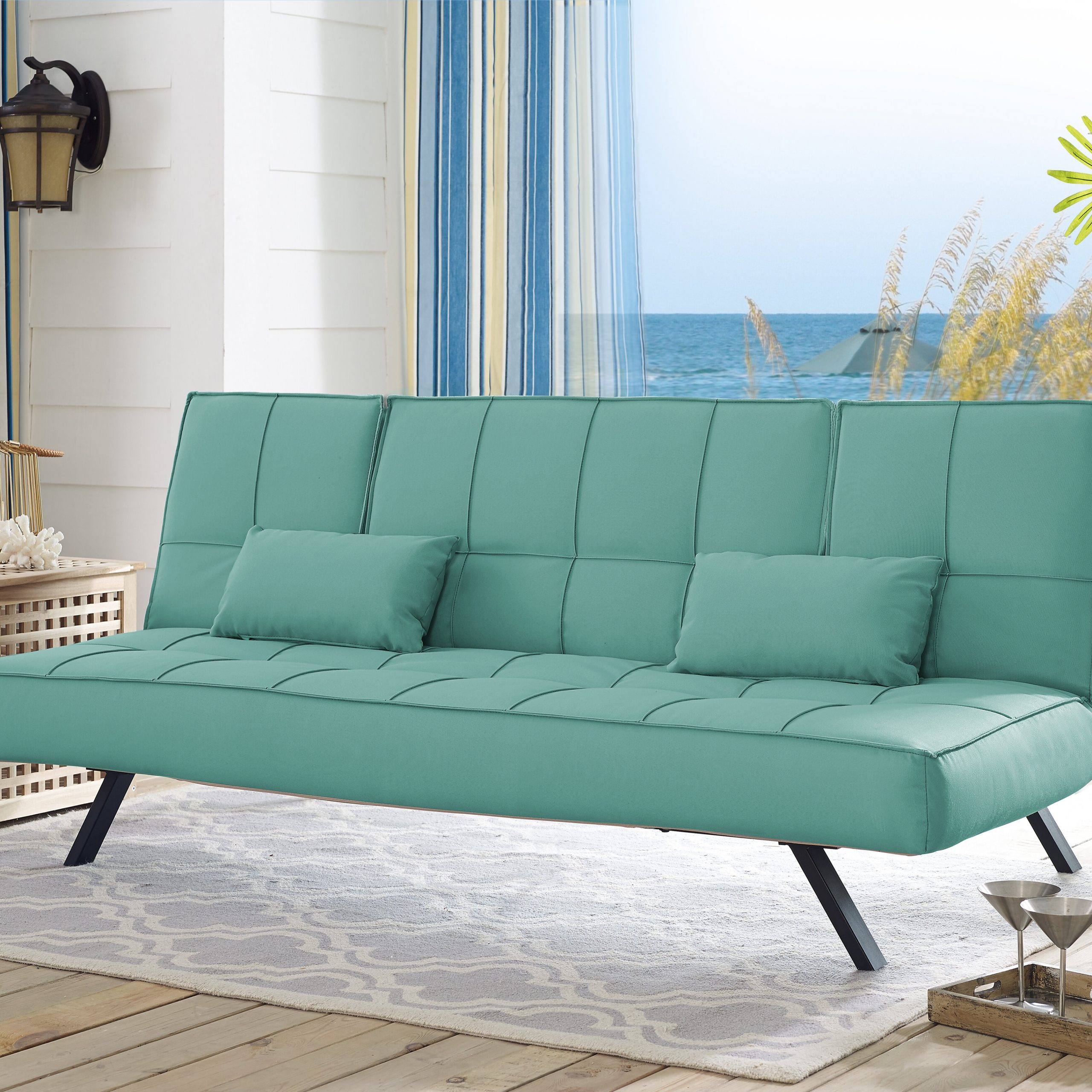 Repp Patio Sofas With Cushion Throughout Favorite Serta Futons Patio Sofa With Cushions (View 7 of 25)