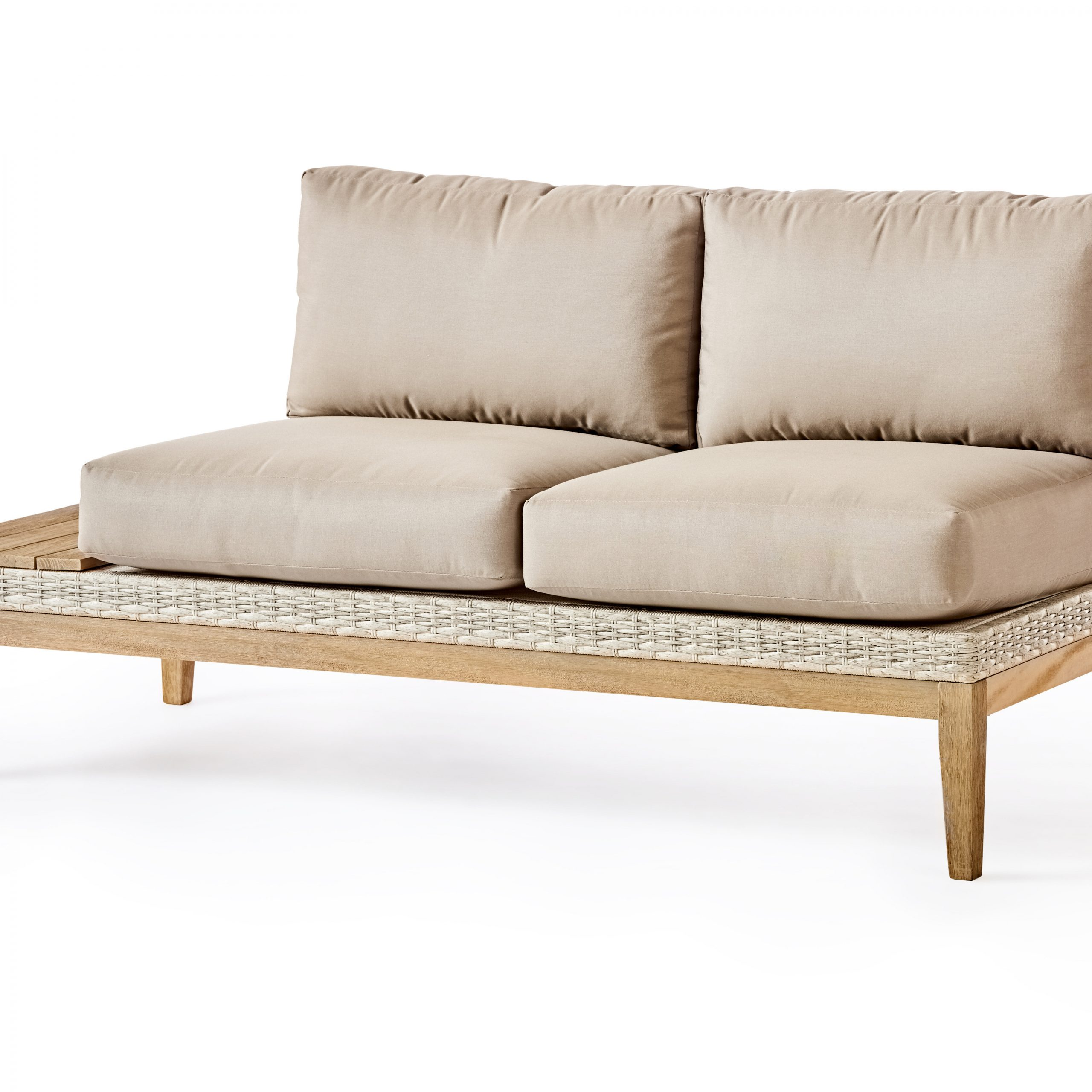 River Darnell Patio Loveseat With Cushions In Most Up To Date Kari Loveseats With Sunbrella Cushions (Gallery 3 of 25)