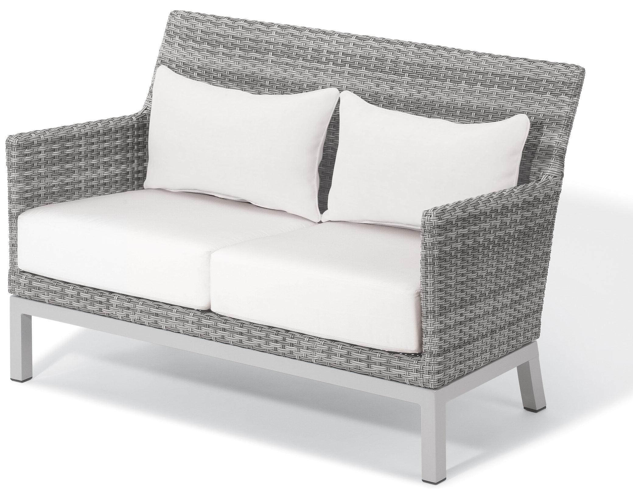 Saleem Loveseat With Cushions Regarding Recent Wakeland Wicker Loveseats With Cushions (View 7 of 25)