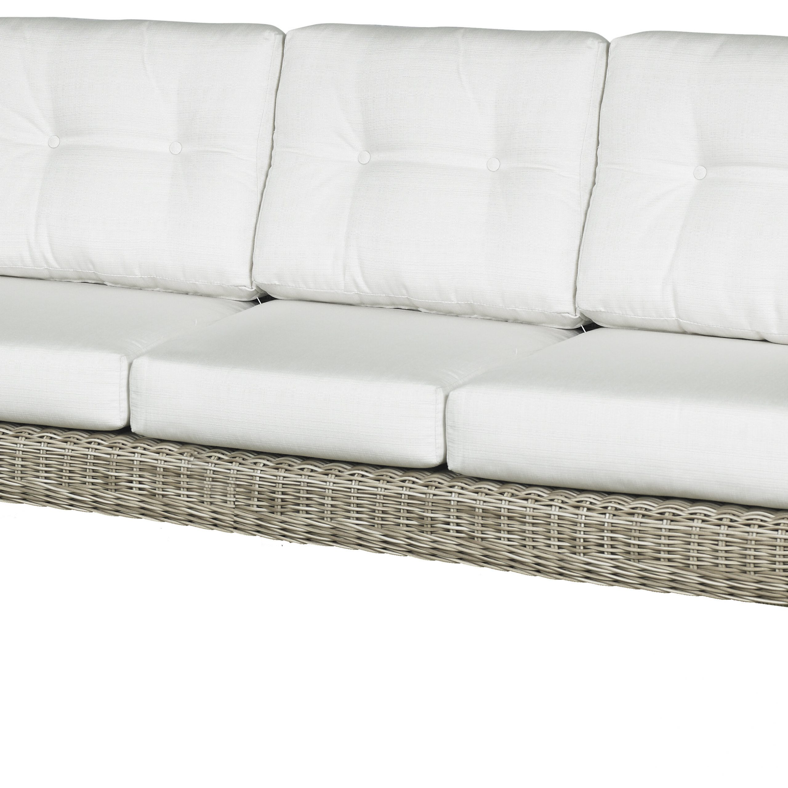 Salvato Sofas With Cushion Inside Most Recent Carlisle Patio Sofa With Cushions (View 4 of 25)