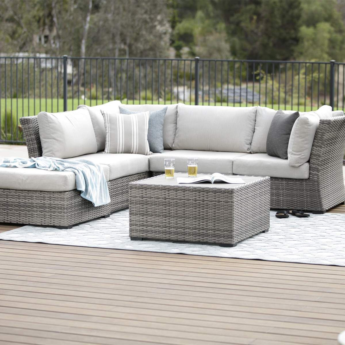 Sectional Pertaining To Well Known Vallauris Storage Patio Sectionals With Cushions (View 9 of 25)