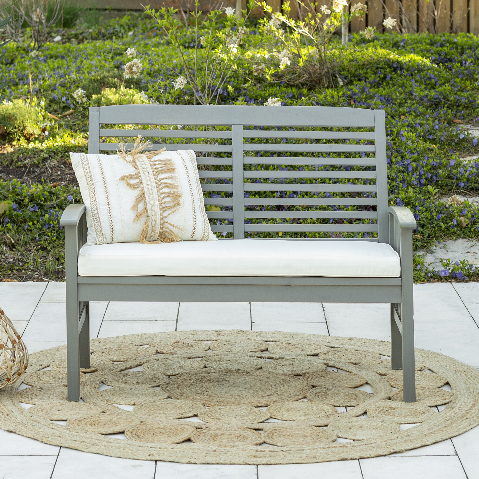 Sol 72 Outdoor Laverton Loveseat With Cushions With Regard To Most Recently Released Jamilla Teak Patio Sofas With Cushion (View 24 of 25)