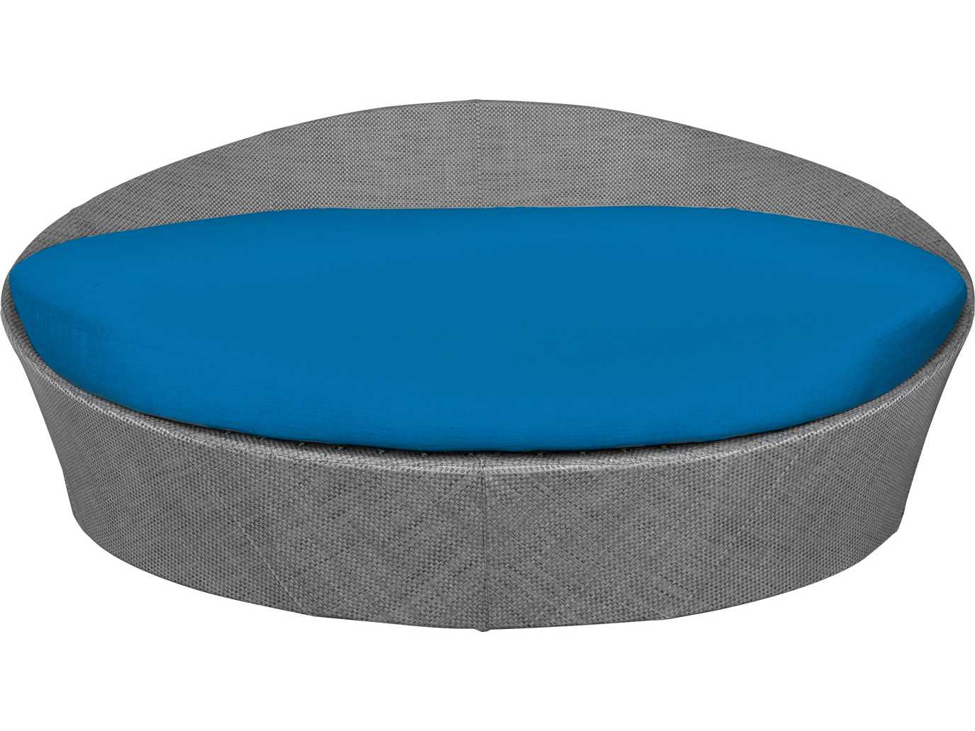 Source Outdoor Furniture Aqua Large Daybed Round Replacement Cushion Regarding Favorite Naperville Patio Daybeds With Cushion (View 20 of 25)