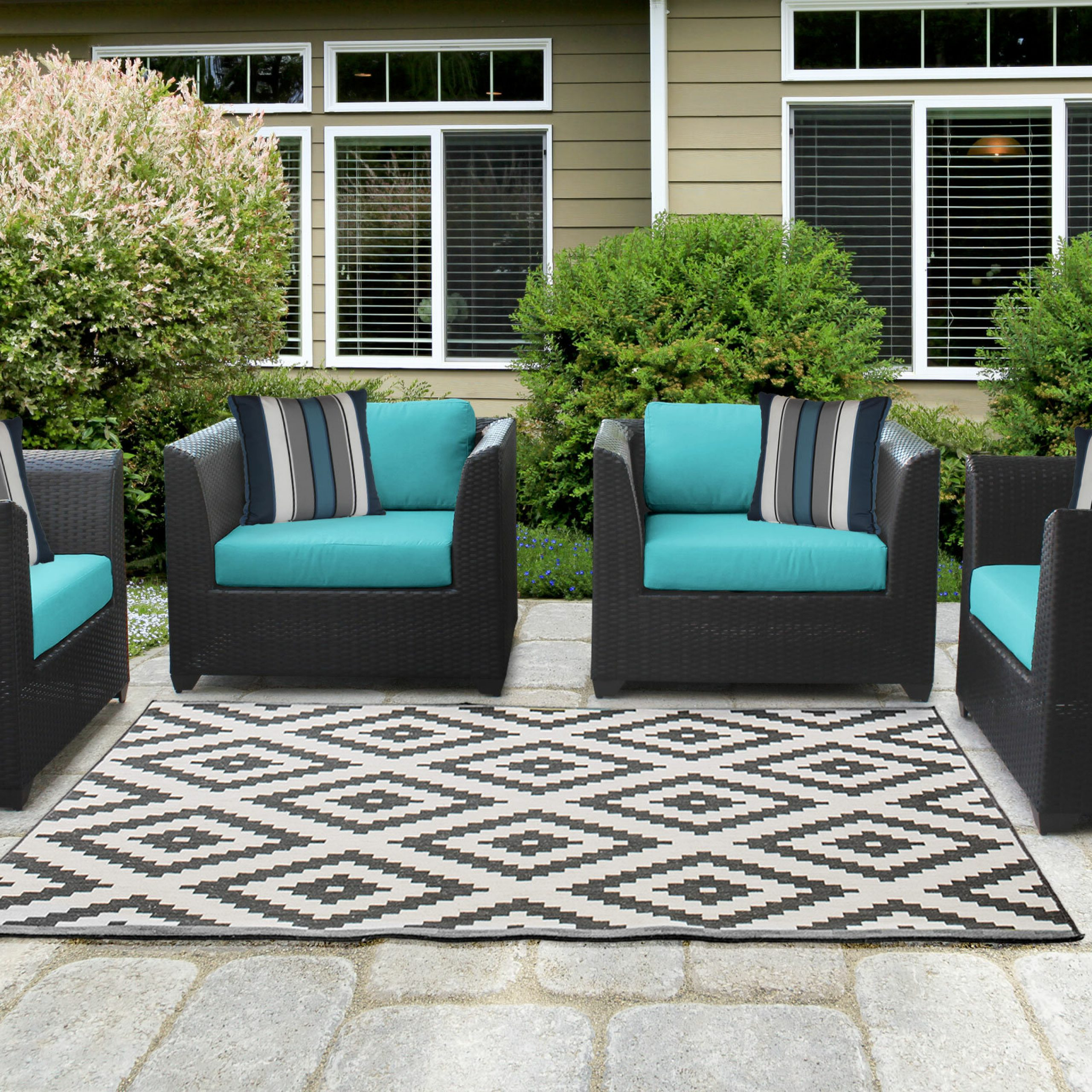 Tegan Patio Chair With Cushions Pertaining To Fashionable Tegan Patio Sofas With Cushions (View 14 of 25)
