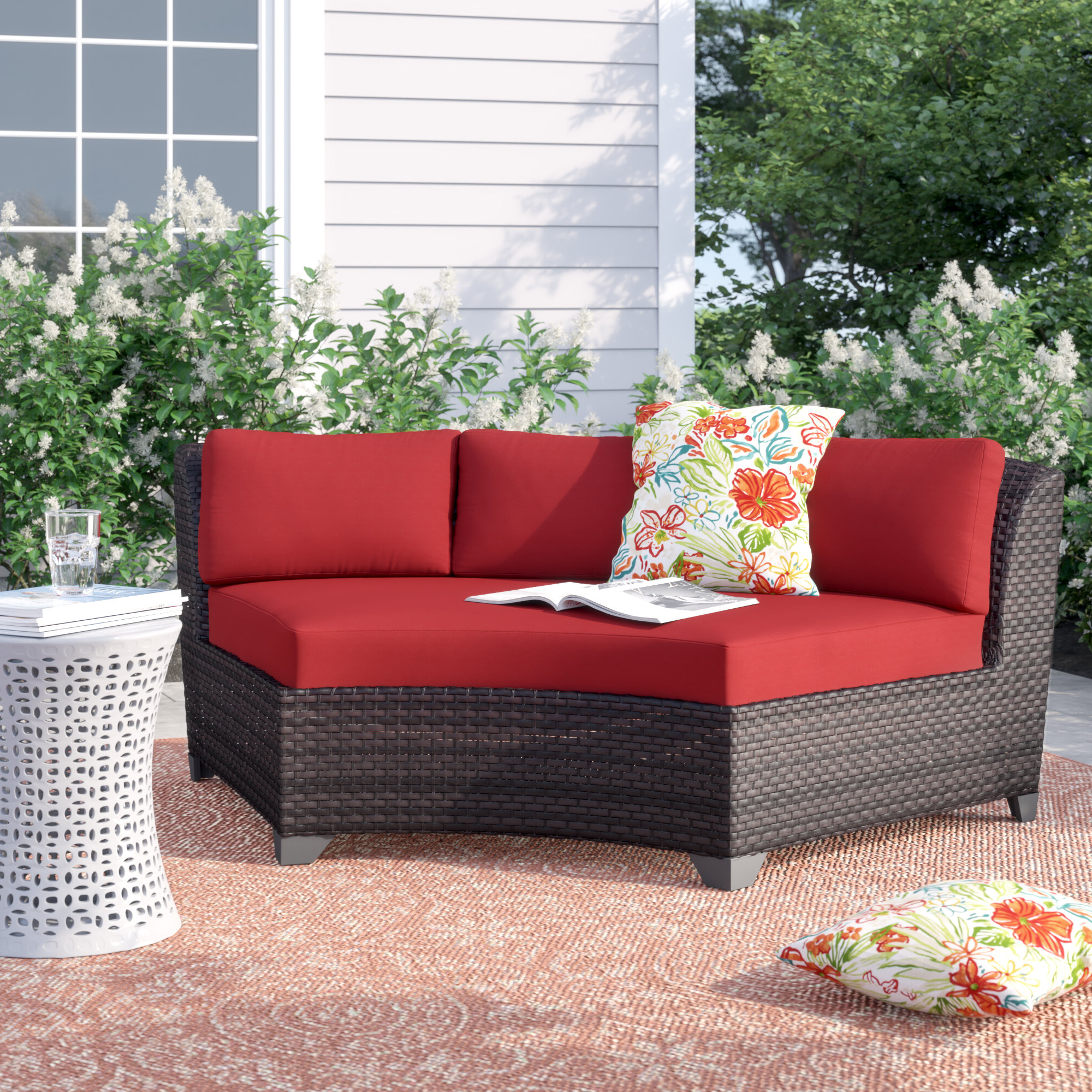Tegan Patio Sofa With Cushions With Regard To Most Current Fannin Patio Sofas With Cushions (View 2 of 25)