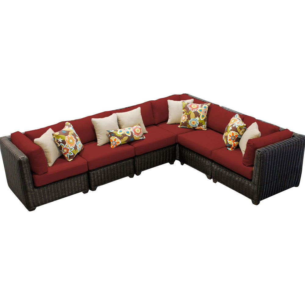 Tegan Patio Sofas With Cushions Throughout Favorite Fairfield Patio Sectional With Cushions (View 17 of 25)