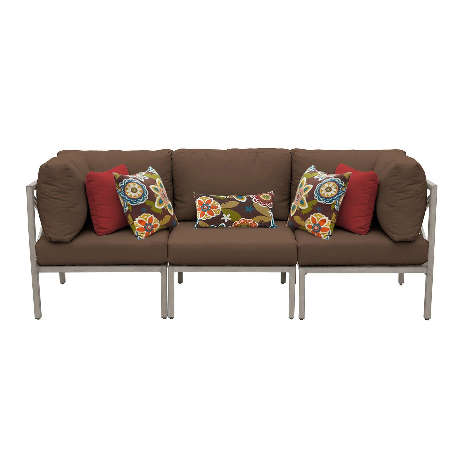 Tk Classics Carlisle Aluminum 3 Piece Patio Sofa Throughout 2020 Carlisle Patio Sofas With Cushions (View 23 of 25)
