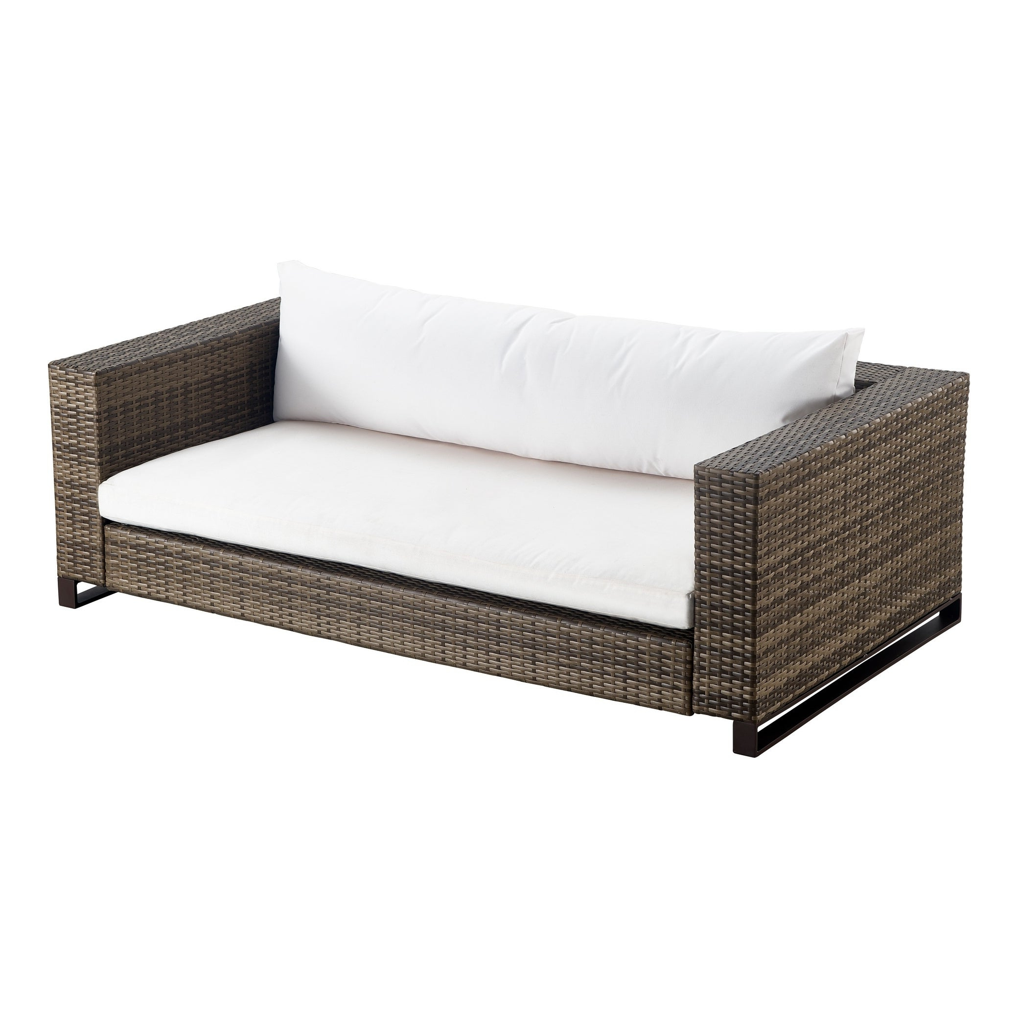 Tommy Hilfiger Oceanside Outdoor Loveseat, Gray Wicker For Popular Oceanside Outdoor Wicker Loveseats With Cushions (View 24 of 25)