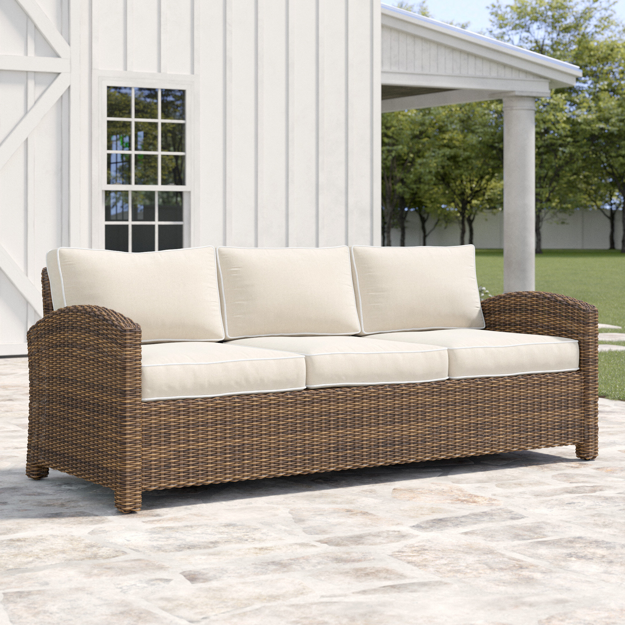 Trendy Lawson Wicker Loveseats With Cushions With Lawson Patio Sofa With Cushions (View 6 of 25)