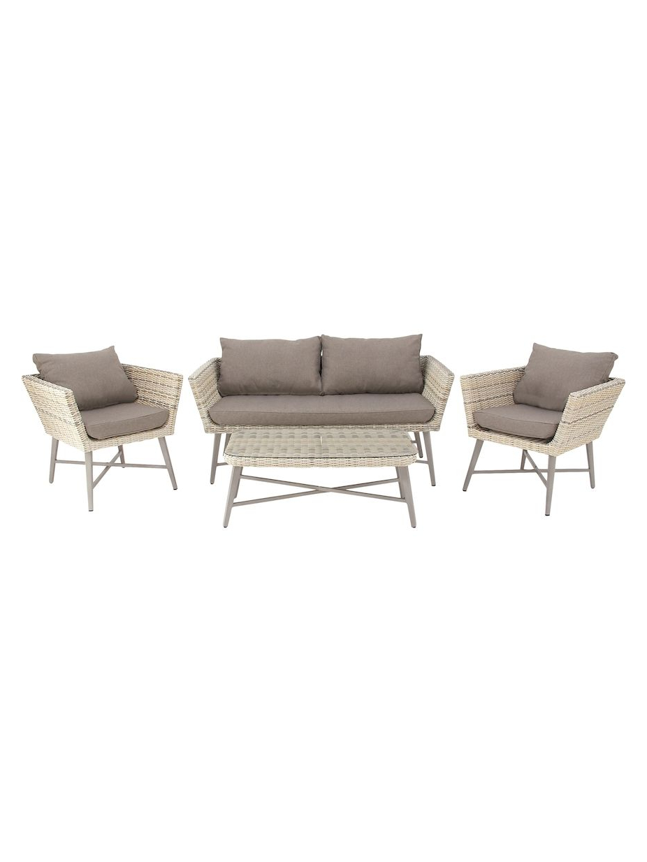 Trendy Repp Patio Sofas With Cushion For Uma Wicker Outdoor Sofa Set (4 Pc), #uma, #outdoor, #wicker (View 9 of 25)