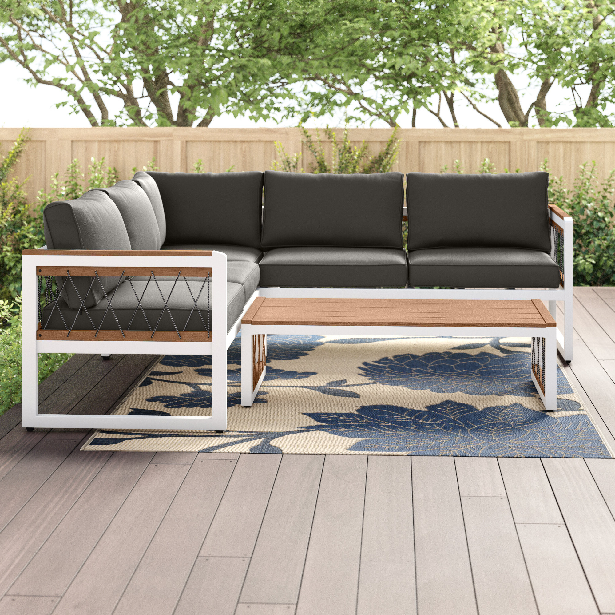 Trent Austin Design Anoop 4 Piece Sectional Seating Group With Cushions For Most Recent Olinda 3 Piece Sectionals Seating Group With Cushions (View 21 of 25)