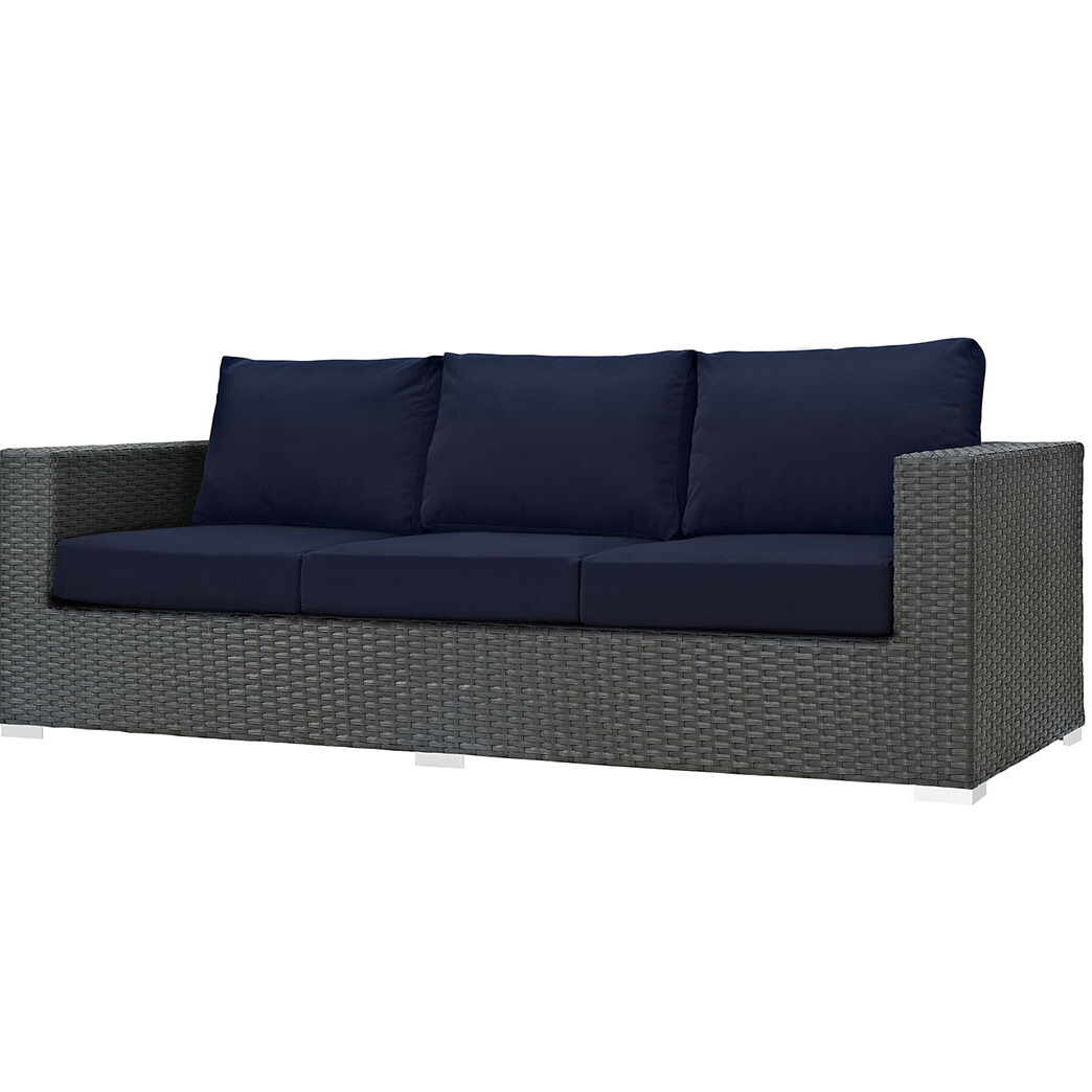 Tripp Sofa With Cushions Inside Best And Newest Eldora Patio Sectionals With Cushions (View 16 of 25)