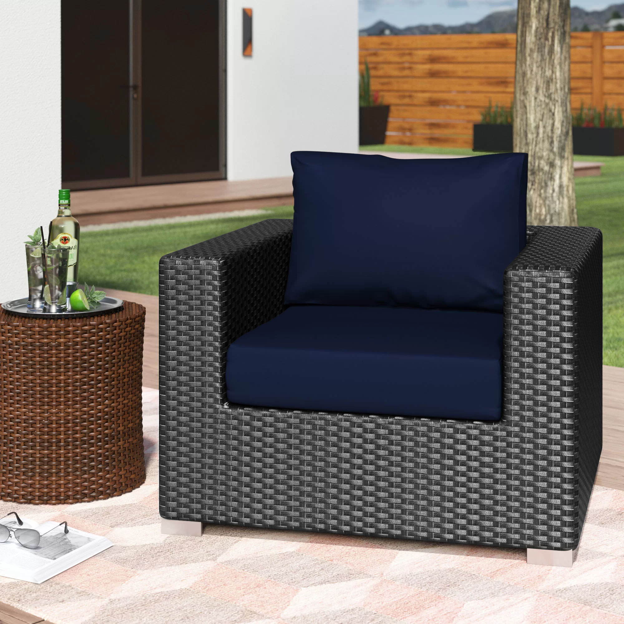 Tripp Sofas With Cushions For Most Up To Date Tripp Outdoor Patio Chair With Cushions (View 17 of 25)