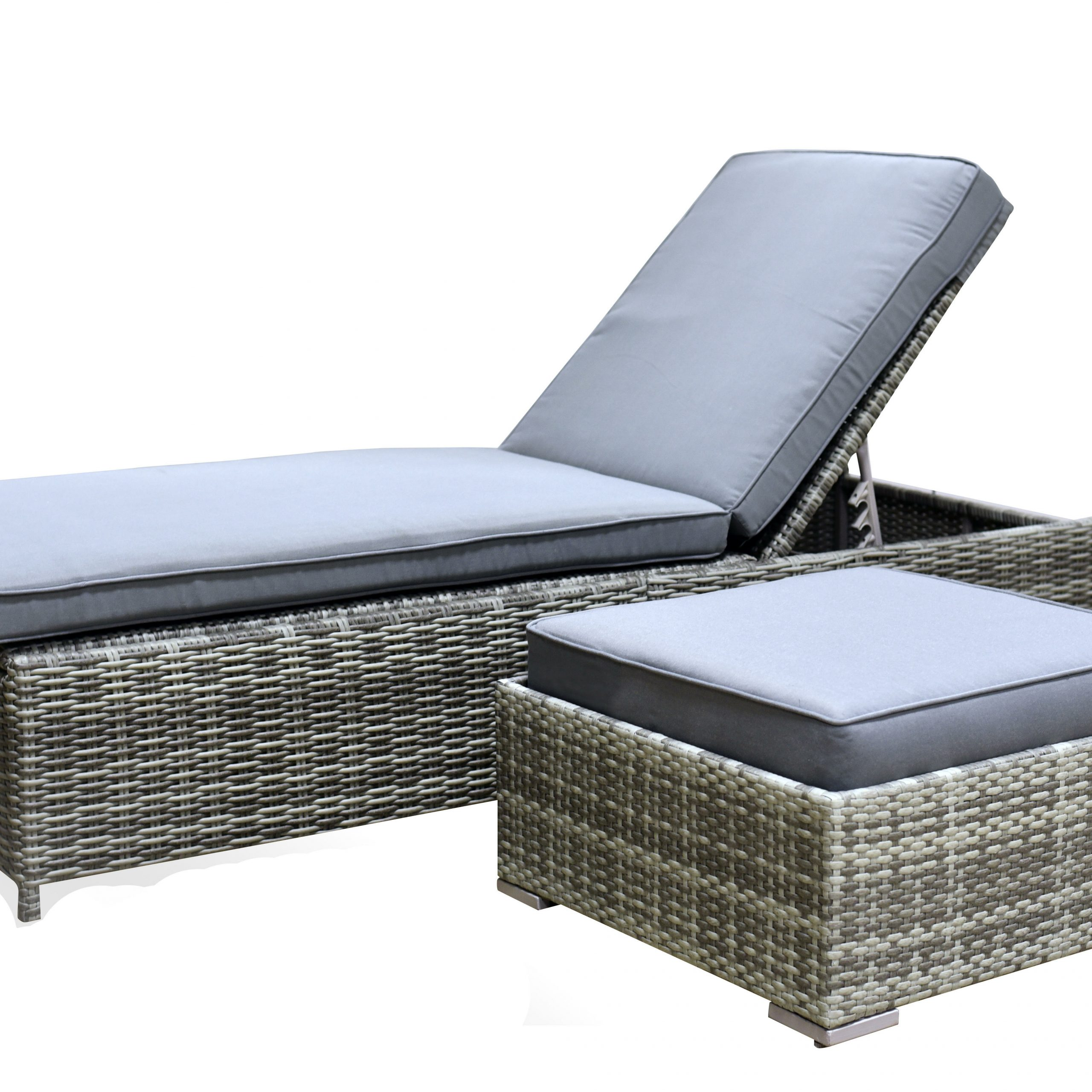 Vallauris Chaise Lounge With Cushion Inside Popular Vallauris Storage Patio Sectionals With Cushions (View 14 of 25)