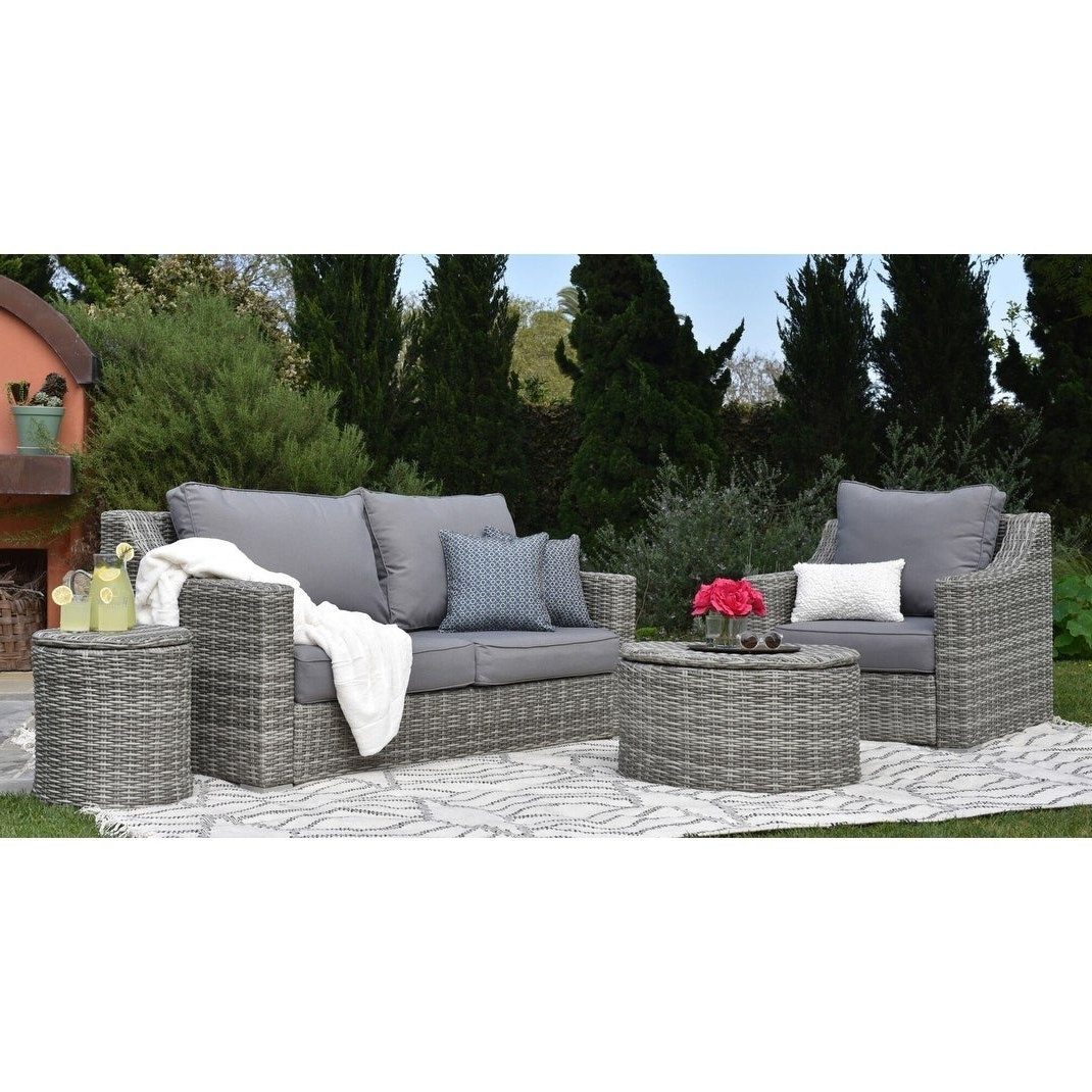 Vallauris Storage Patio Sectionals With Cushions Regarding Most Recently Released Elle Decor Vallauris Outdoor Sofa (View 11 of 25)