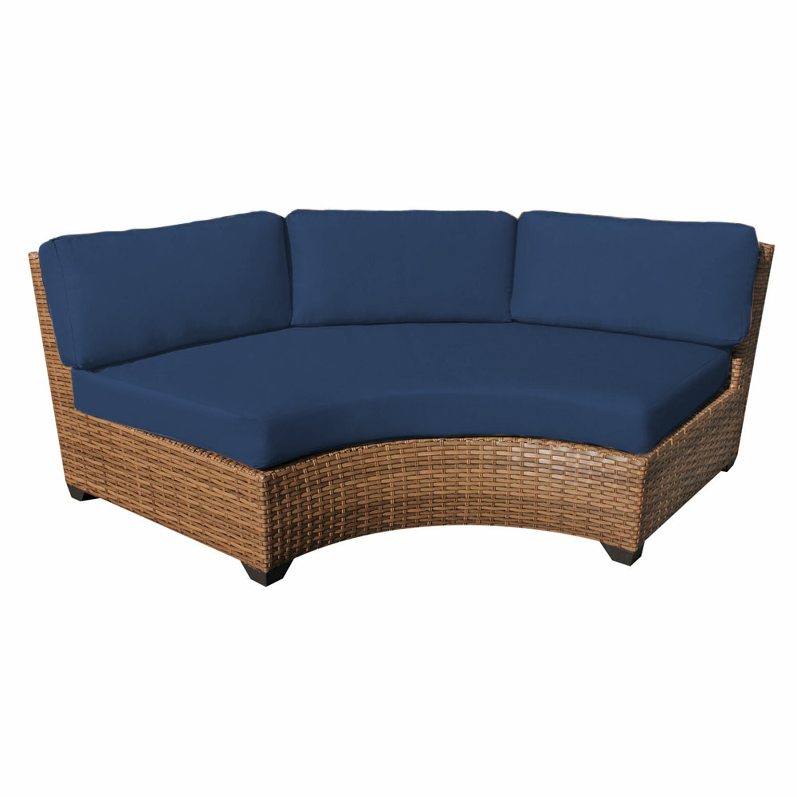 Waterbury Curved Armless Patio Sofa With Cushions Pertaining To Best And Newest Waterbury Patio Sectionals With Cushions (Gallery 9 of 25)