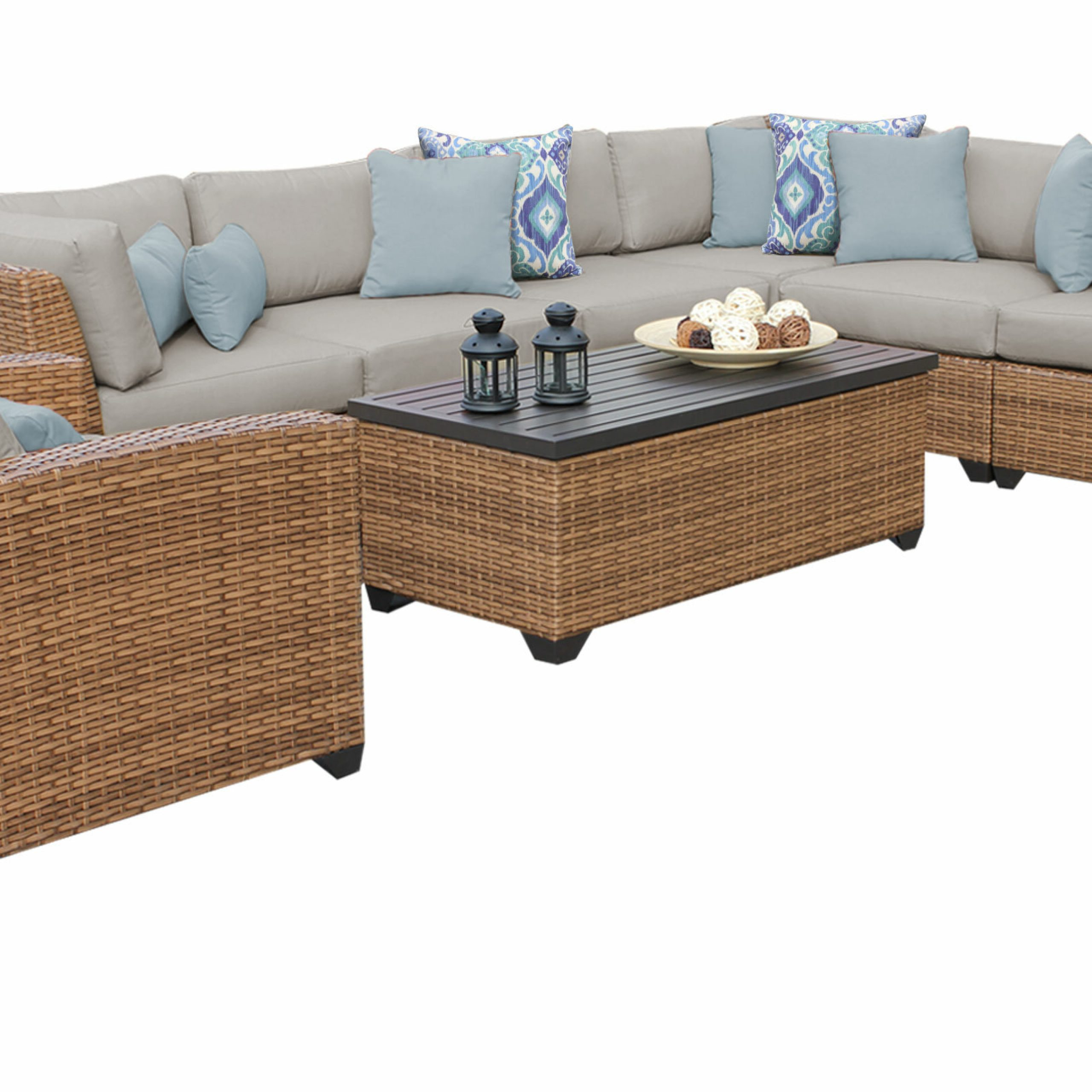 Waterbury Patio Sectionals With Cushions For Most Popular Waterbury 8 Piece Rattan Sectional Seating Group With Cushions (Gallery 15 of 25)