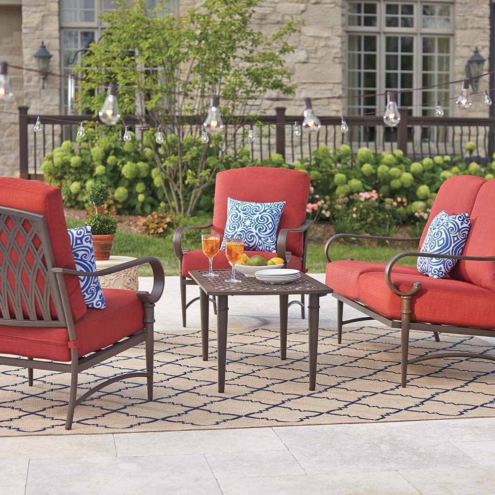 Waterbury Patio Sectionals With Cushions For Preferred Oak Cliff Collection – Outdoors – The Home Depot (Gallery 21 of 25)
