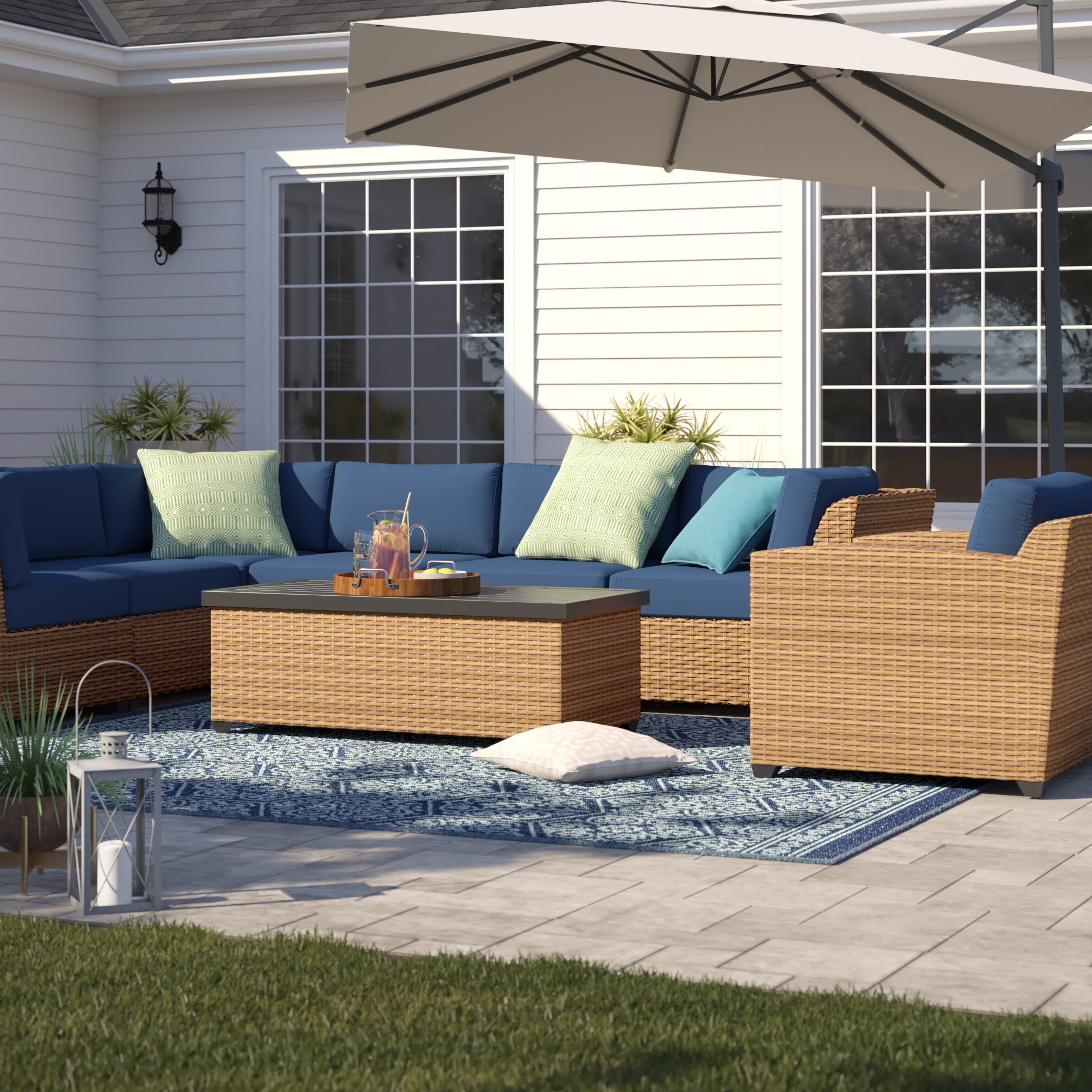 Waterbury Patio Sectionals With Cushions Pertaining To 2019 Waterbury 8 Piece Sectional Seating Group With Cushions (View 12 of 25)