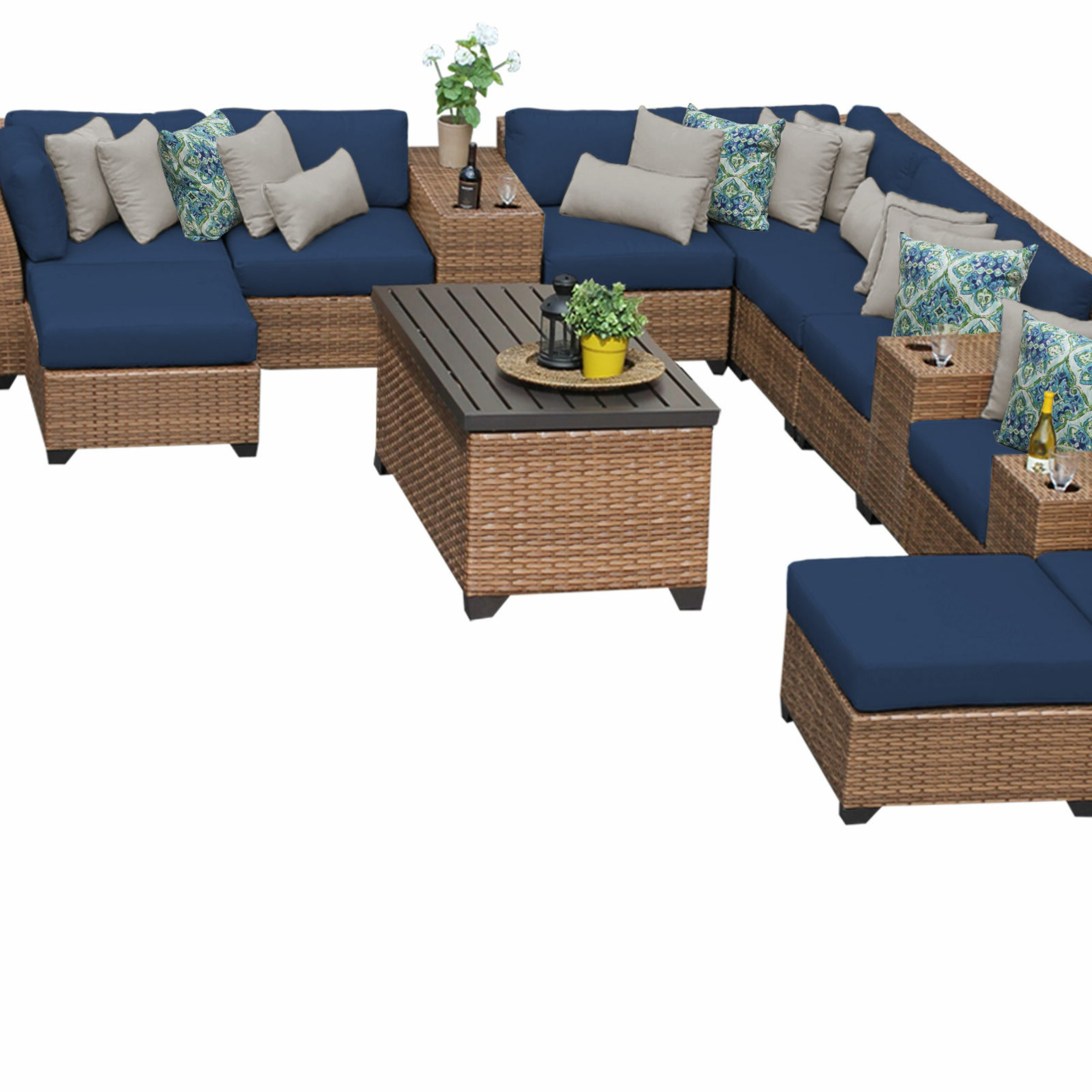 Waterbury Patio Sectionals With Cushions Throughout Newest Waterbury 17 Piece Sectional Seating Group With Cushions (View 11 of 25)