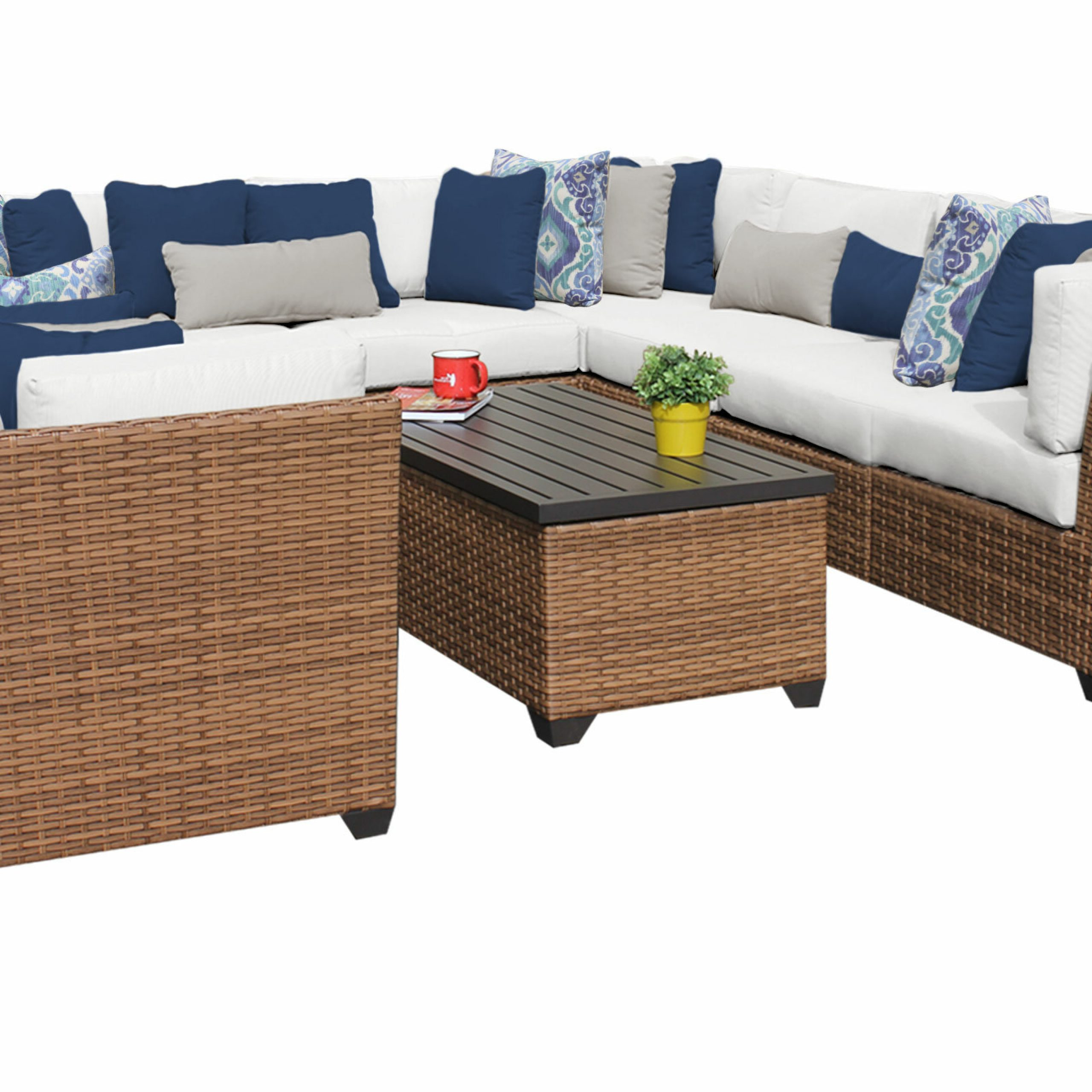 Waterbury Patio Sectionals With Cushions With Latest Waterbury 11 Piece Sectional Seating Group With Cushions (View 6 of 25)