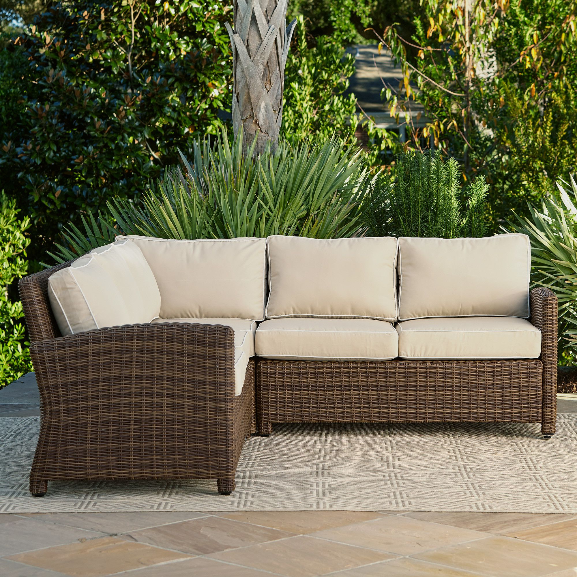 Wayfair For Lawson Wicker Loveseats With Cushions (Gallery 7 of 25)