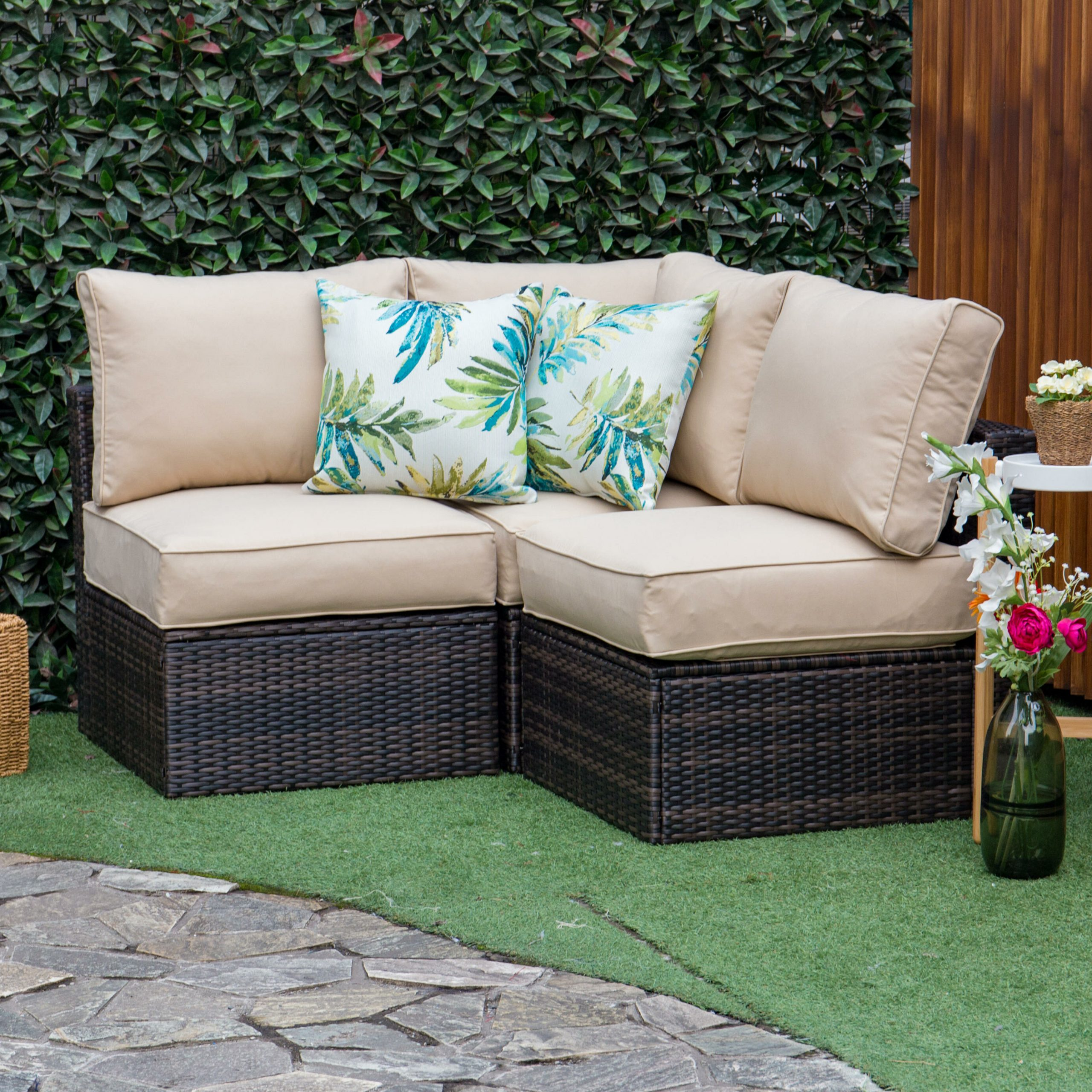 Well Known Boyce Outdoor Patio Sectional With Cushions Inside Burruss Patio Sectionals With Cushions (View 18 of 25)