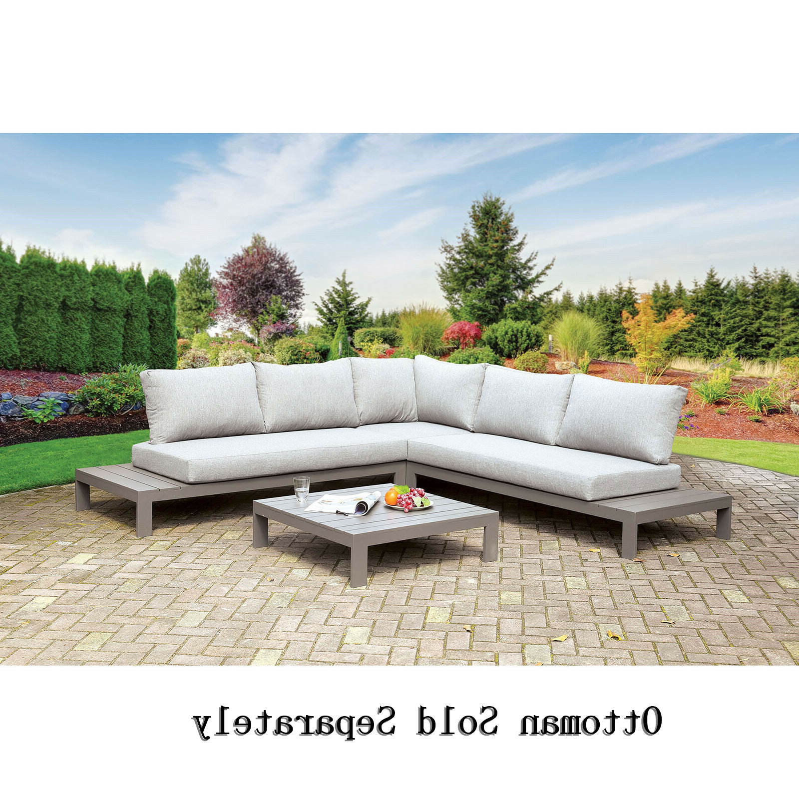 Well Known Brecht Patio Sectionals With Cushions In Boyter Patio Sectional With Cushions (View 2 of 25)